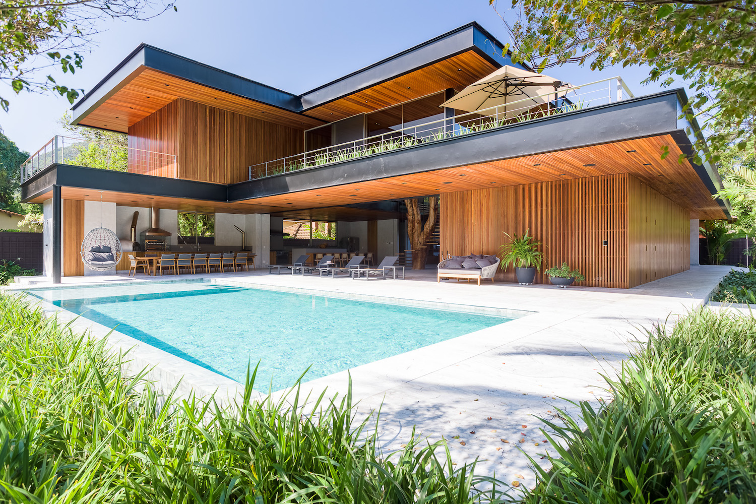 modern house with pool in Brazil