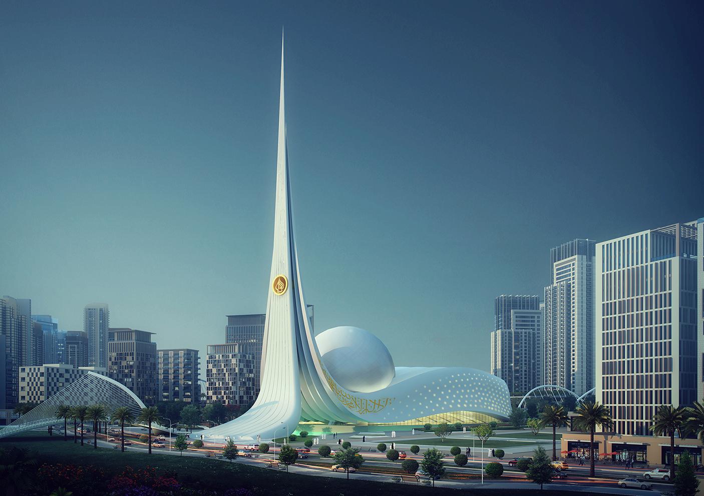 modern mosque in Dubai