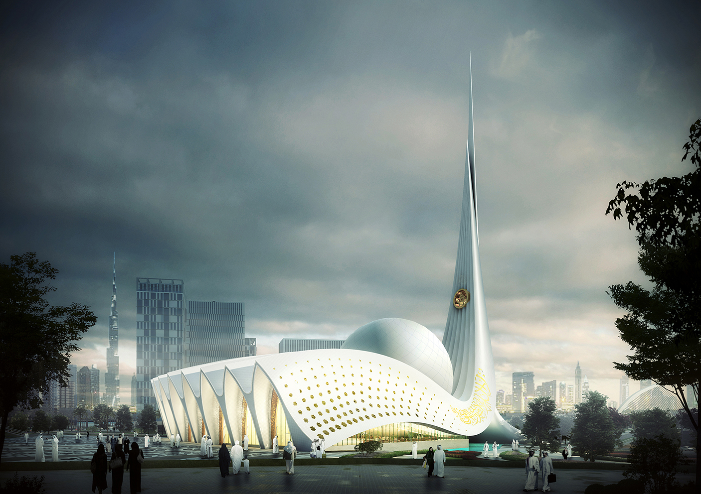 Iconic Mosque in Dubai, United Arab Emirates by LYX arkitekter