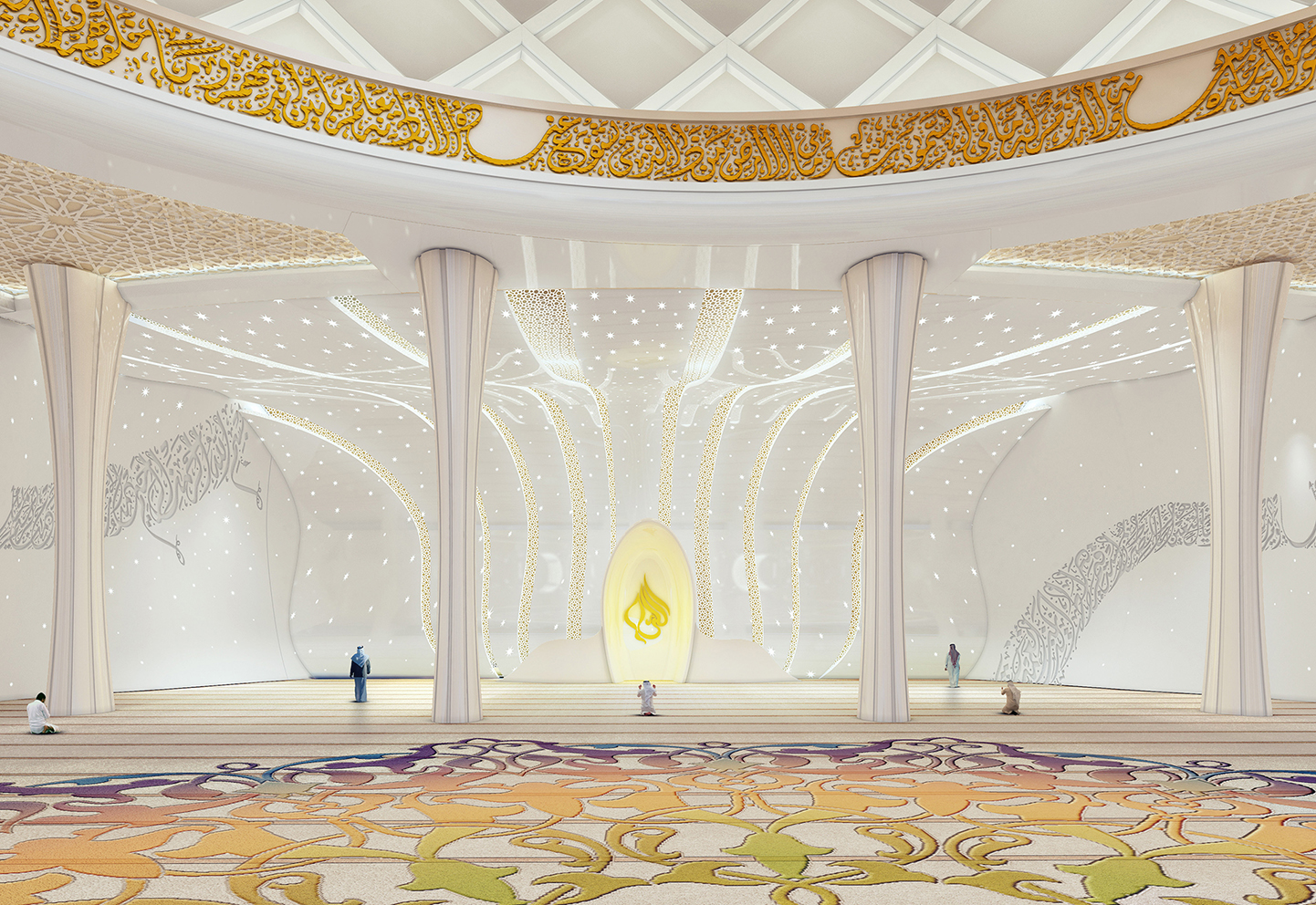 interior design of the mosque with motifs and ornamental details