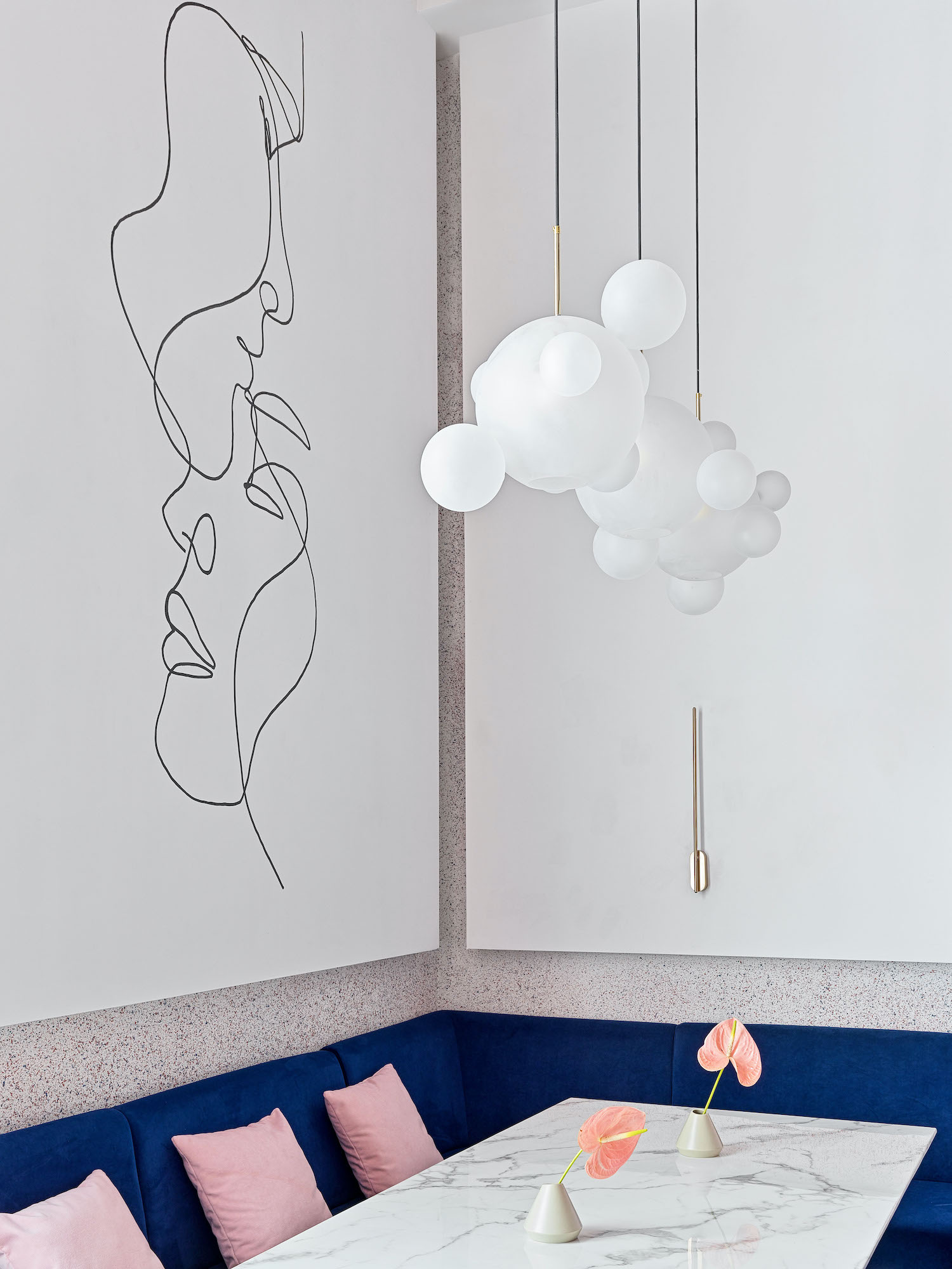 drawings painting on the wall