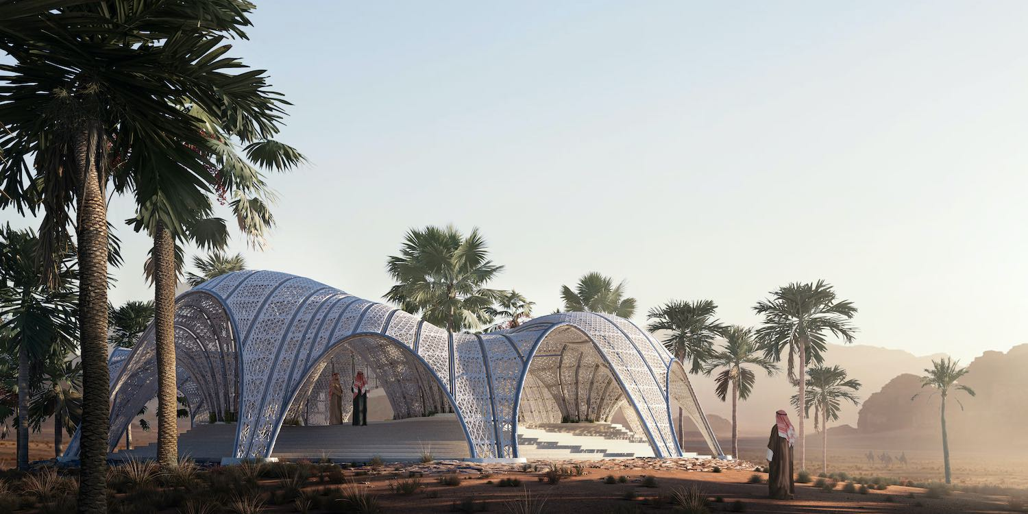 Desert Pavilion in Wadi Rum, Jordan designed by MEAN*