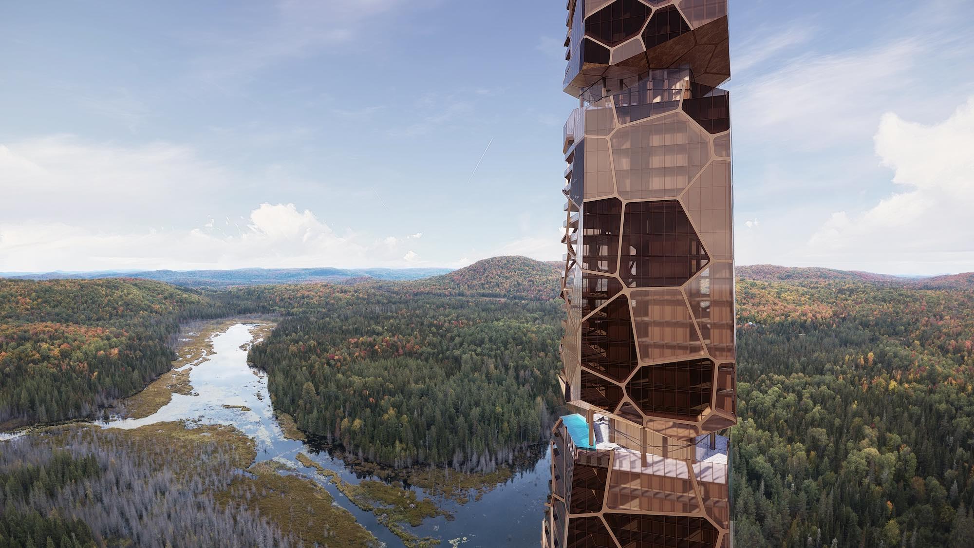 Pekuliari tower in Quebec, Canada designed by MU Architecture