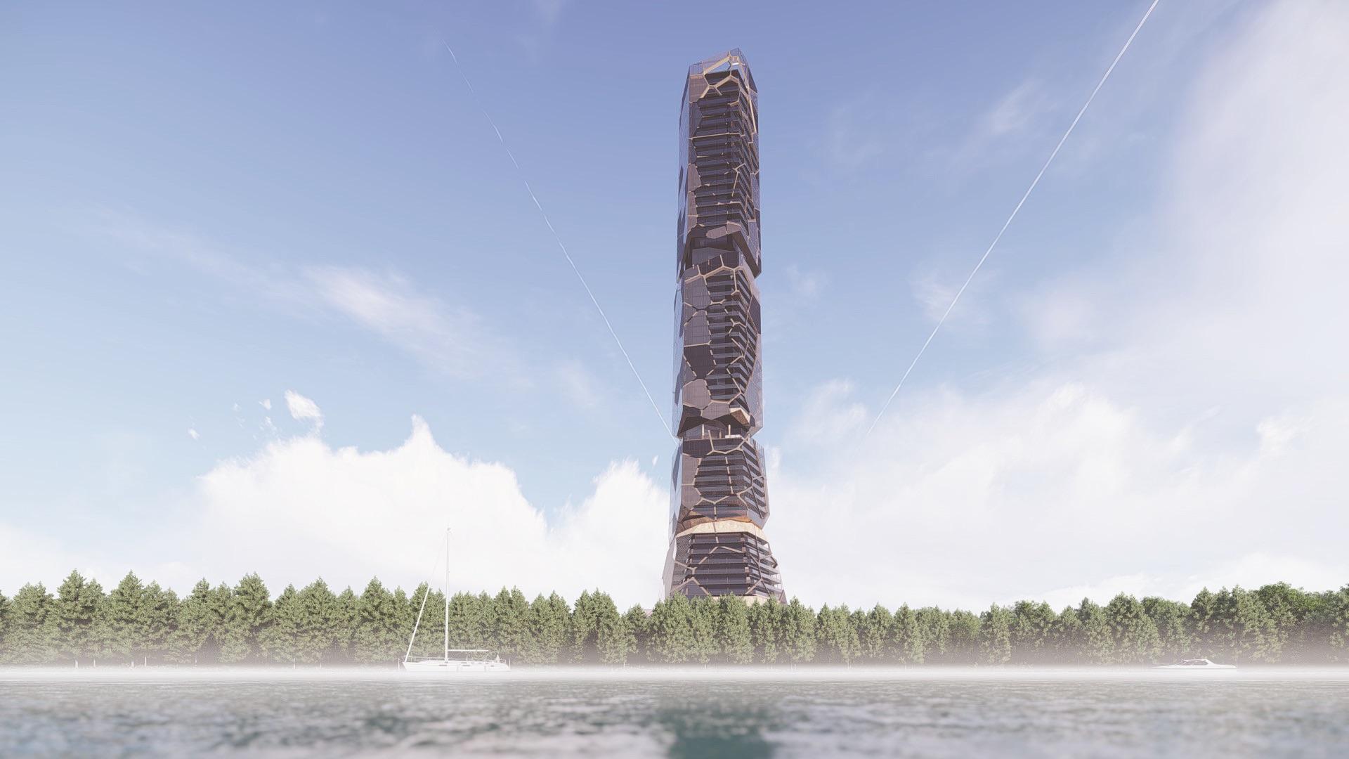 riverside skyscraper
