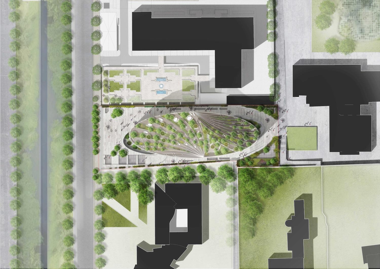 master plan of Tirana building in Albania
