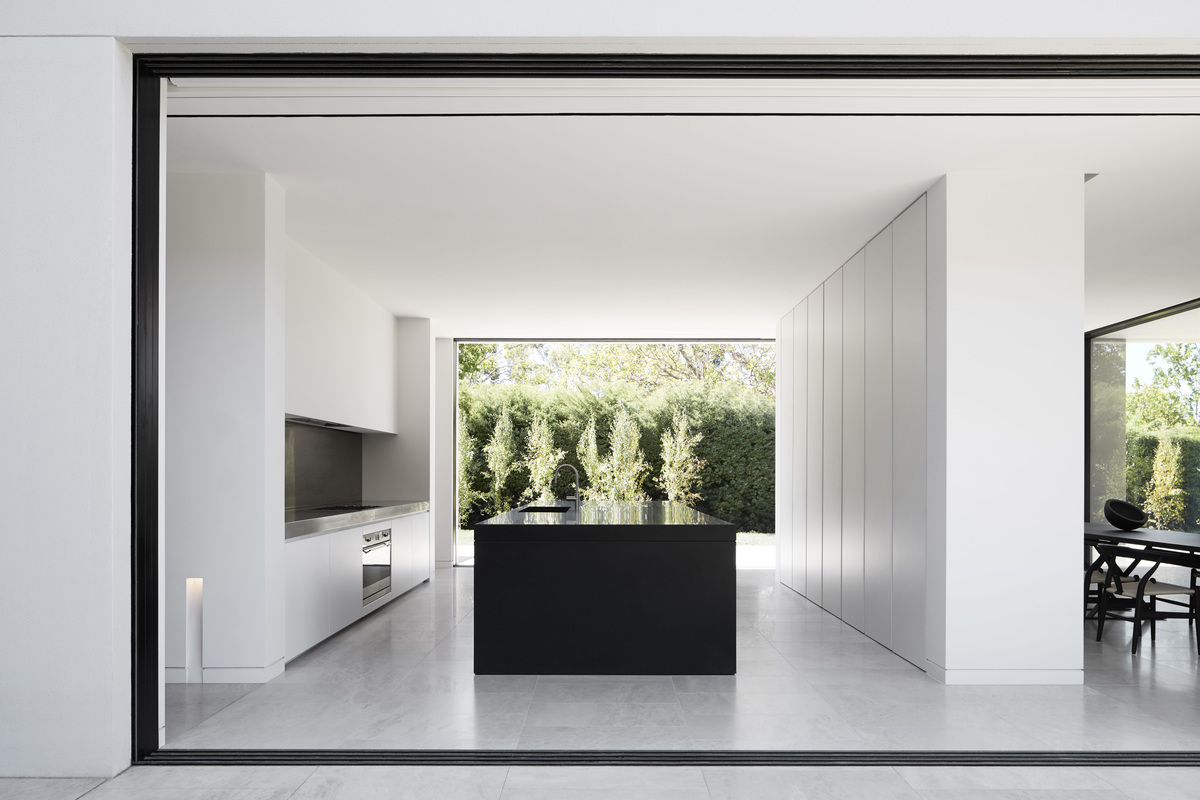 the kitchen with a spectacular view from the window