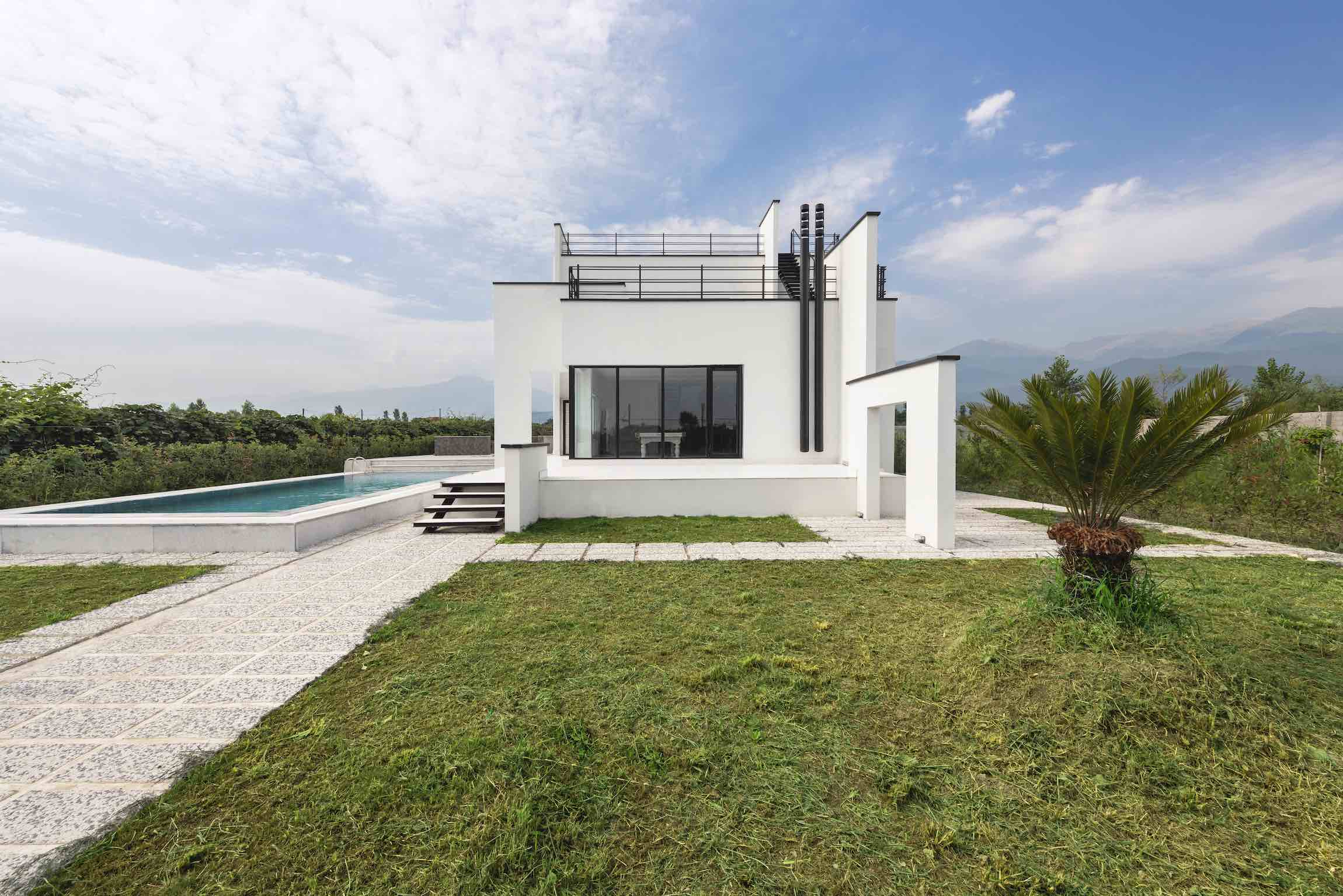 Rostam White Villa designed by Mohammad Reza Kohzadi in Mazandaran Iran