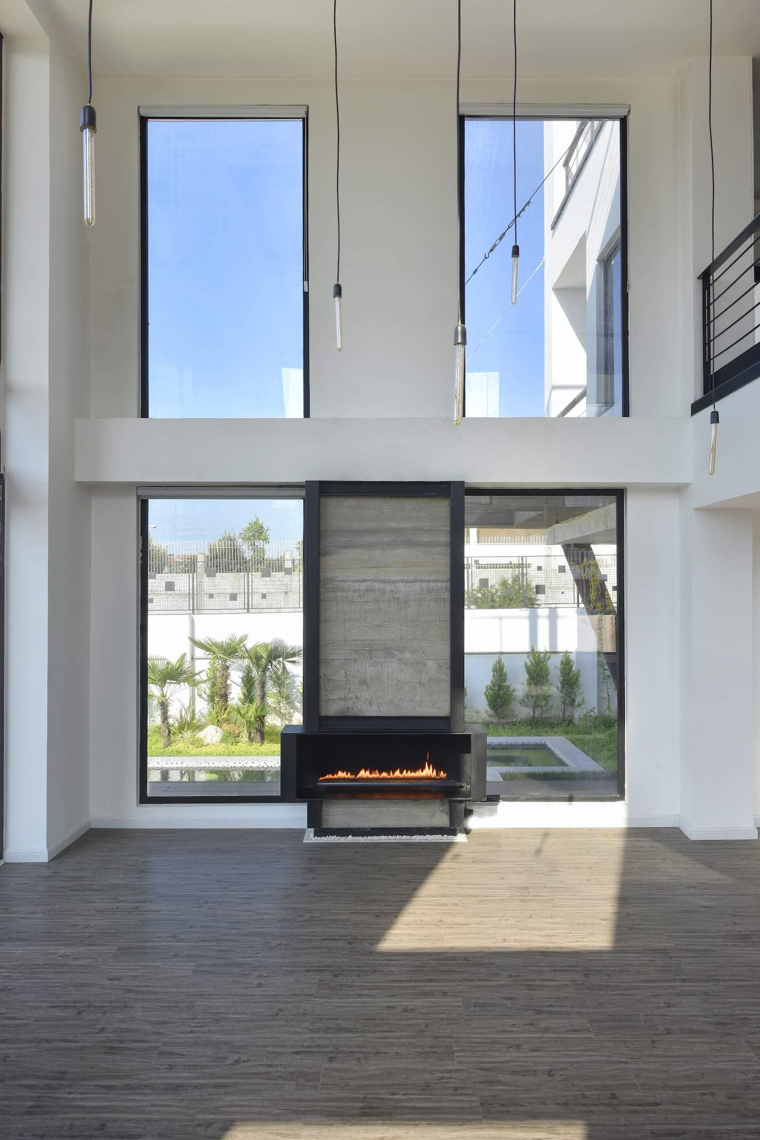 modern chimney fireplace