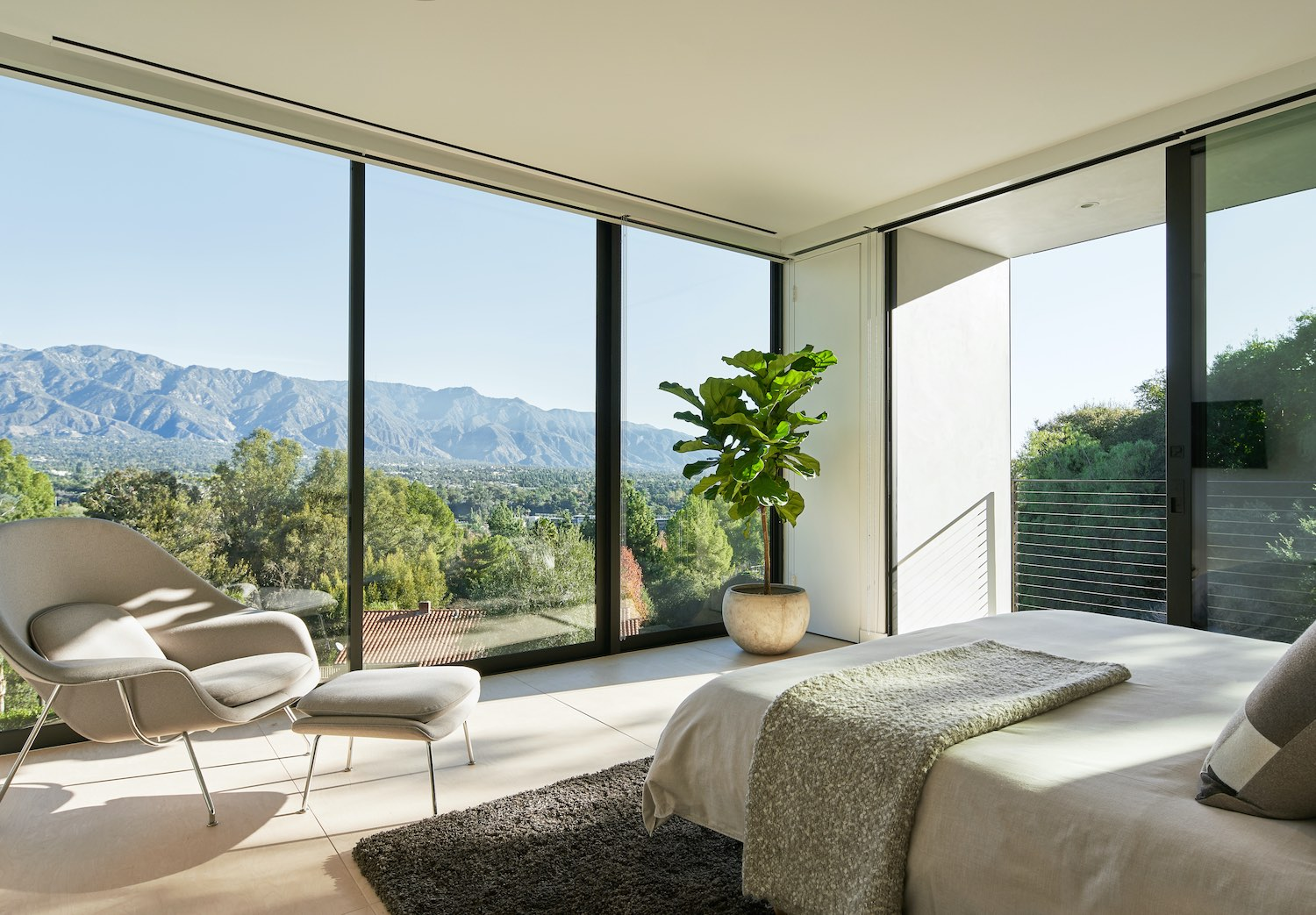 bedroom with nice landscape view