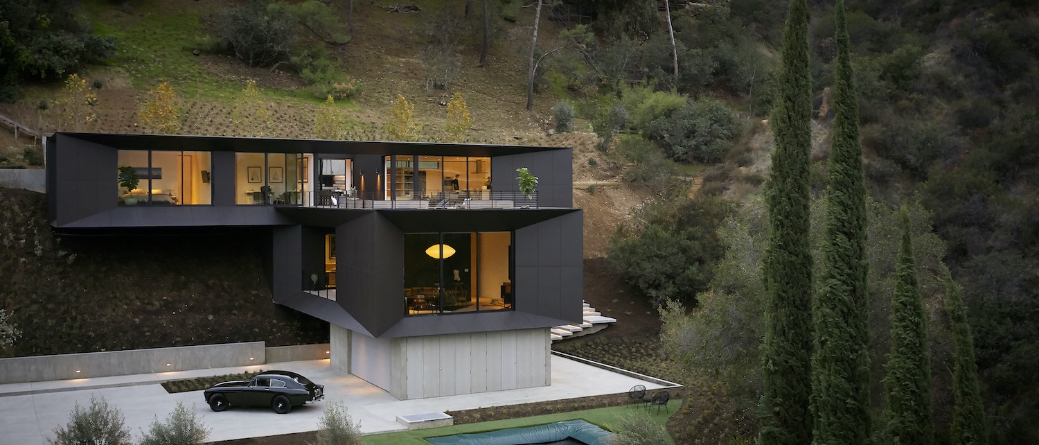 black house build on the hill
