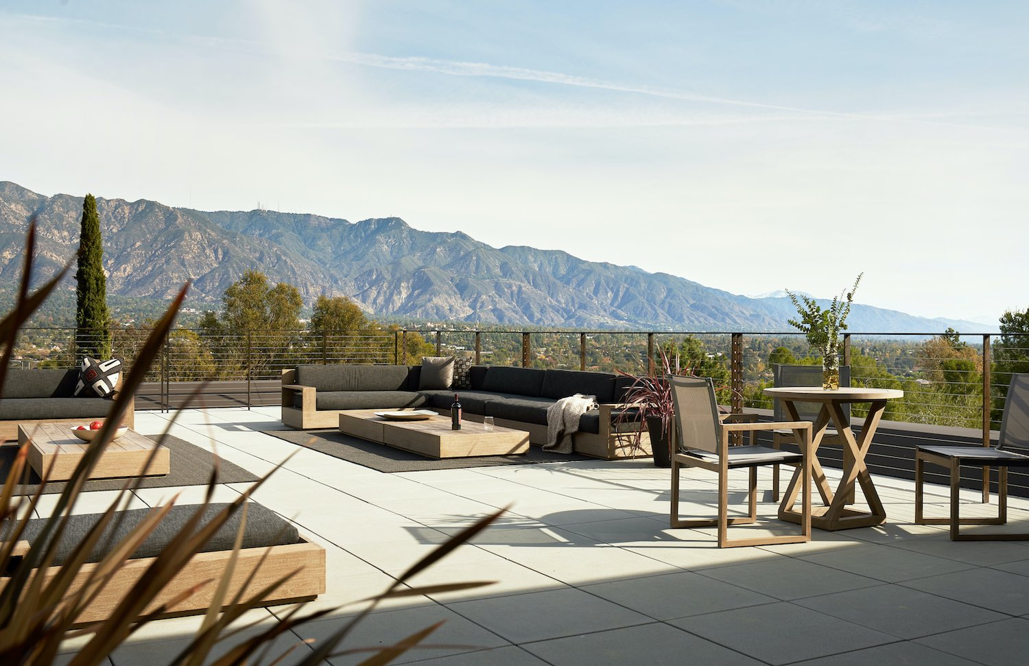 rooftop terrace with beautiful landscape view