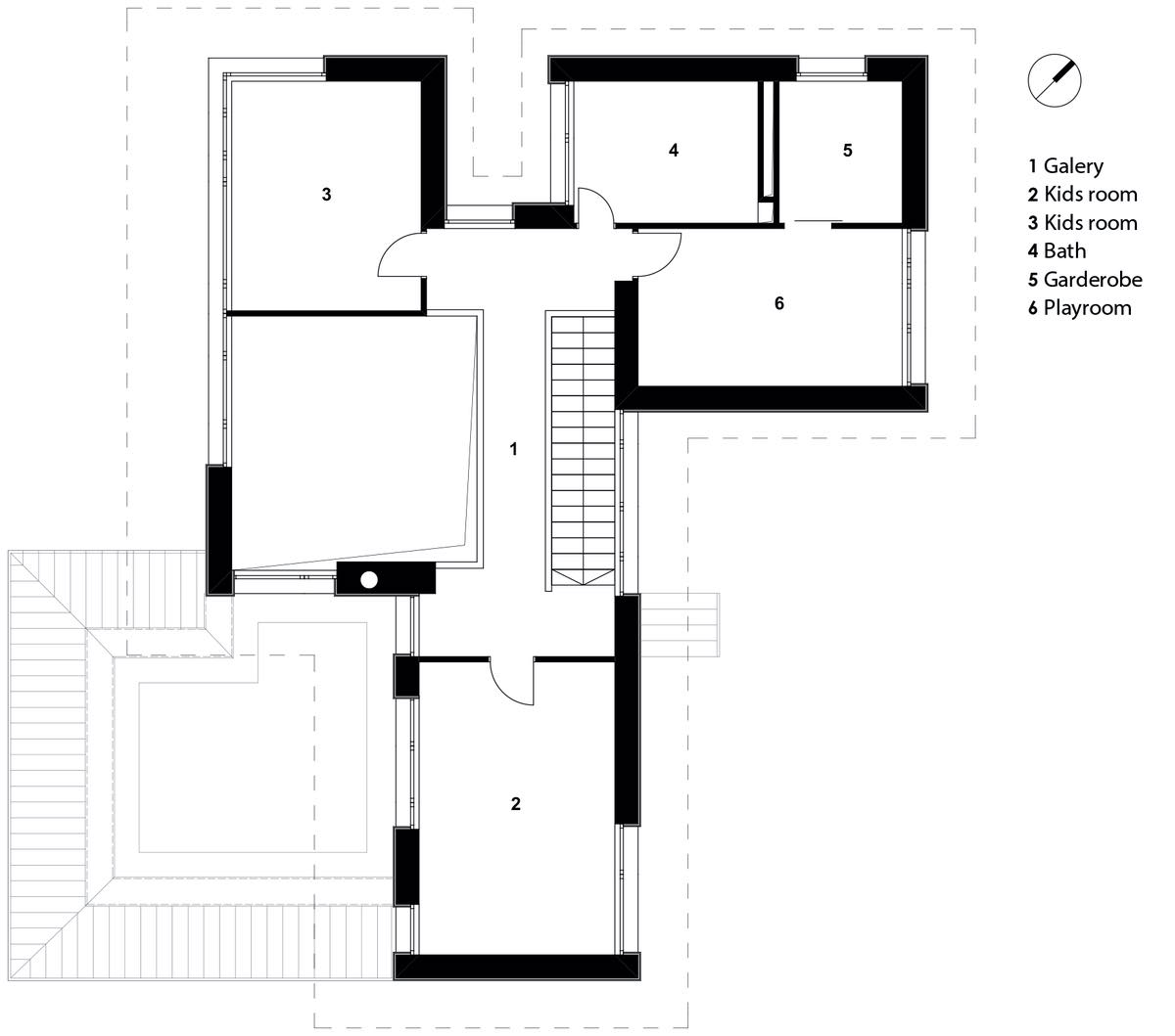 First floor plan of the house