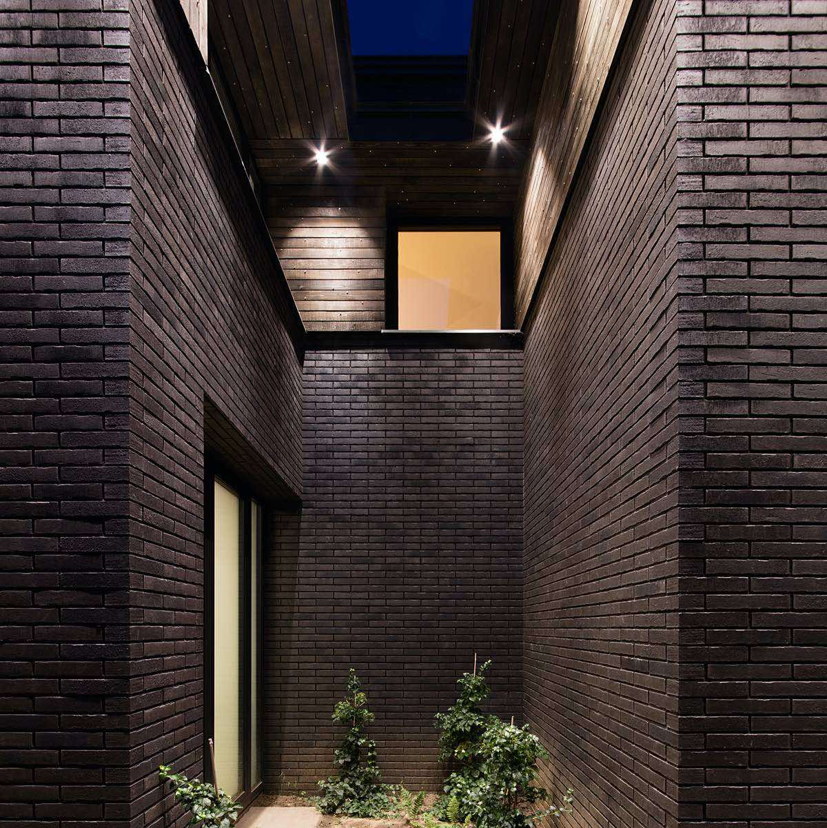 facade finished with dark brick