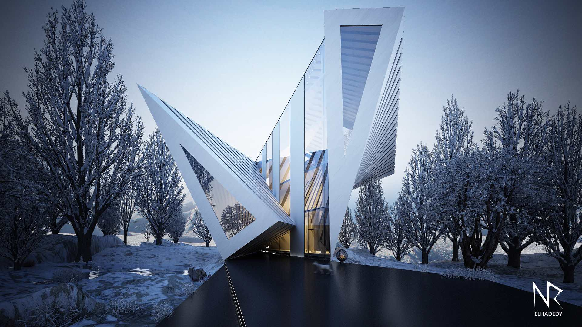 triangular shaped home