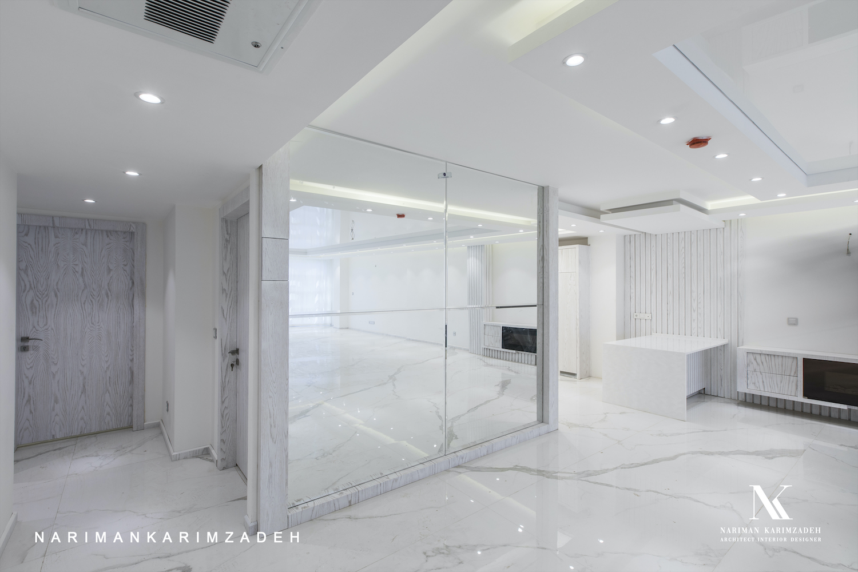 interior design with marble stone