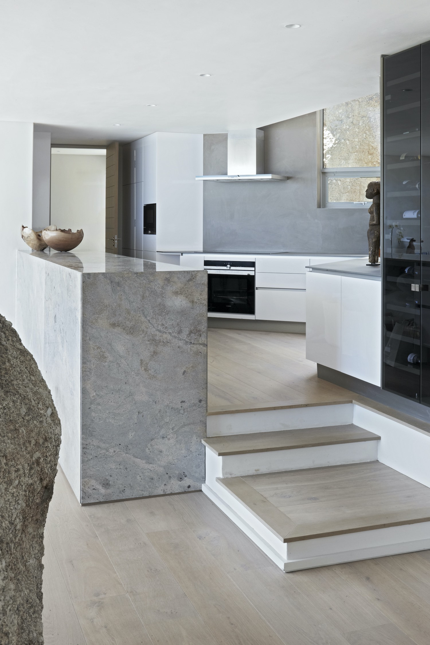 modern kitchen with marble stone