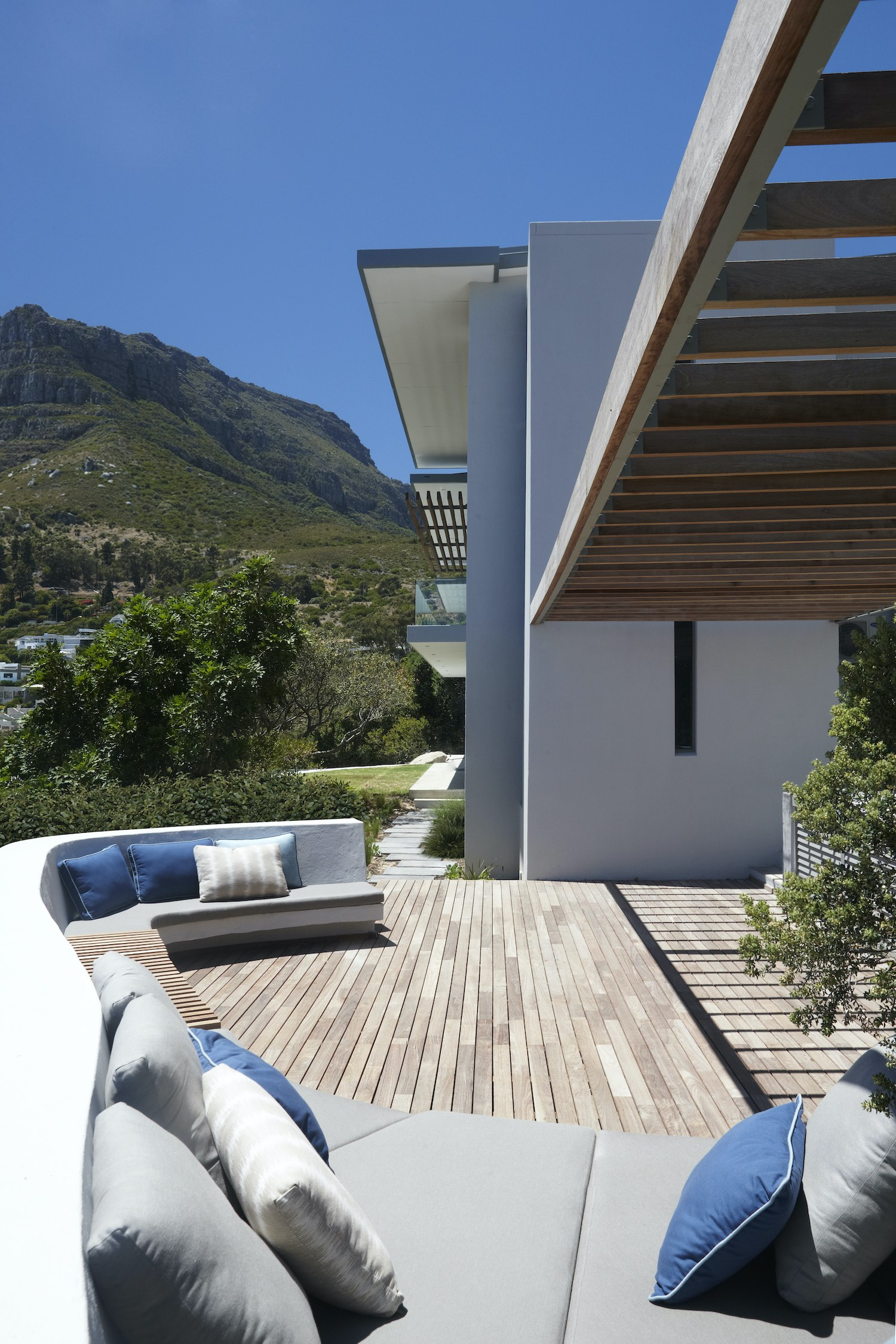 seaside house with outdoor furniture
