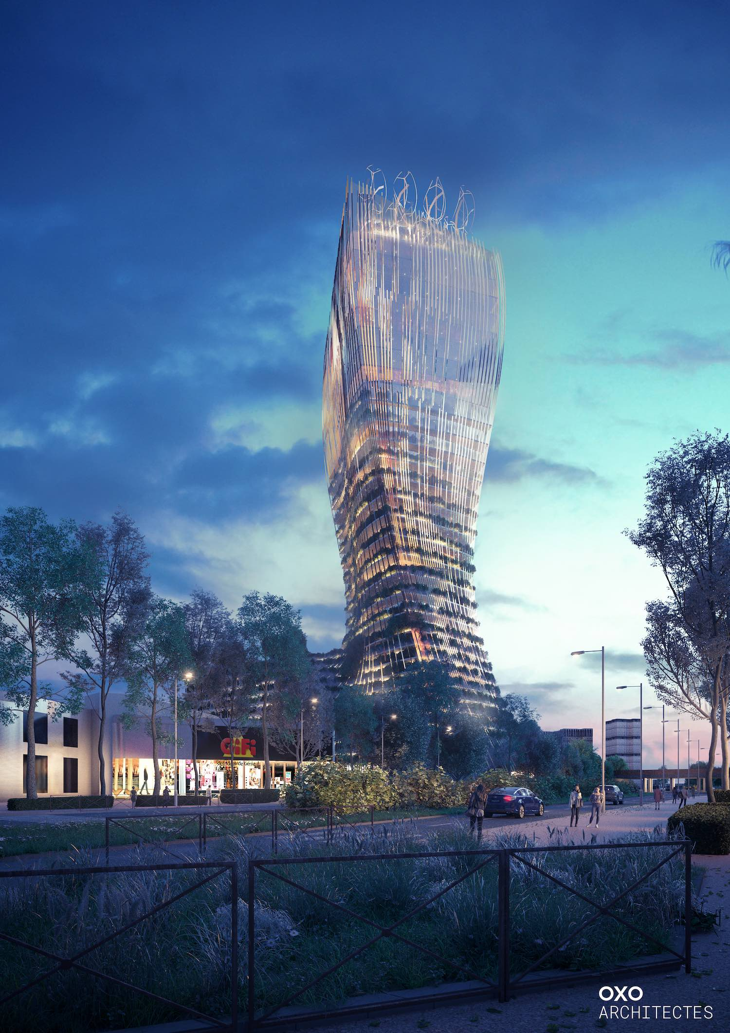 rendering image of a skyscraper