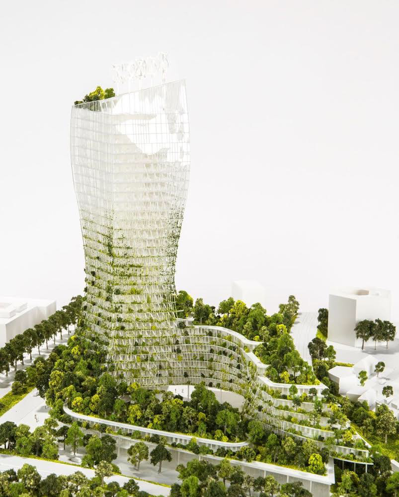 tower with many trees