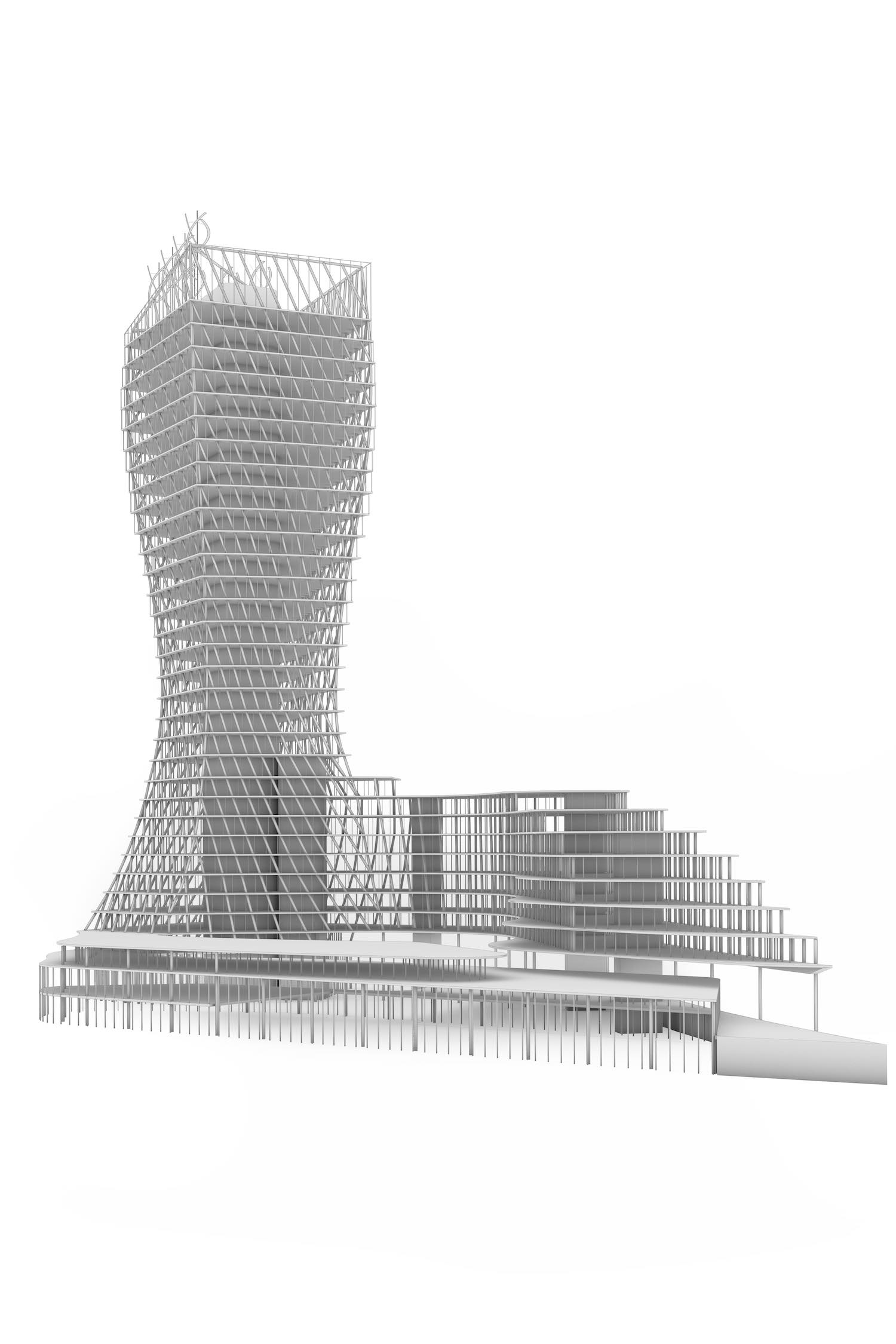 architectural model shown in the render