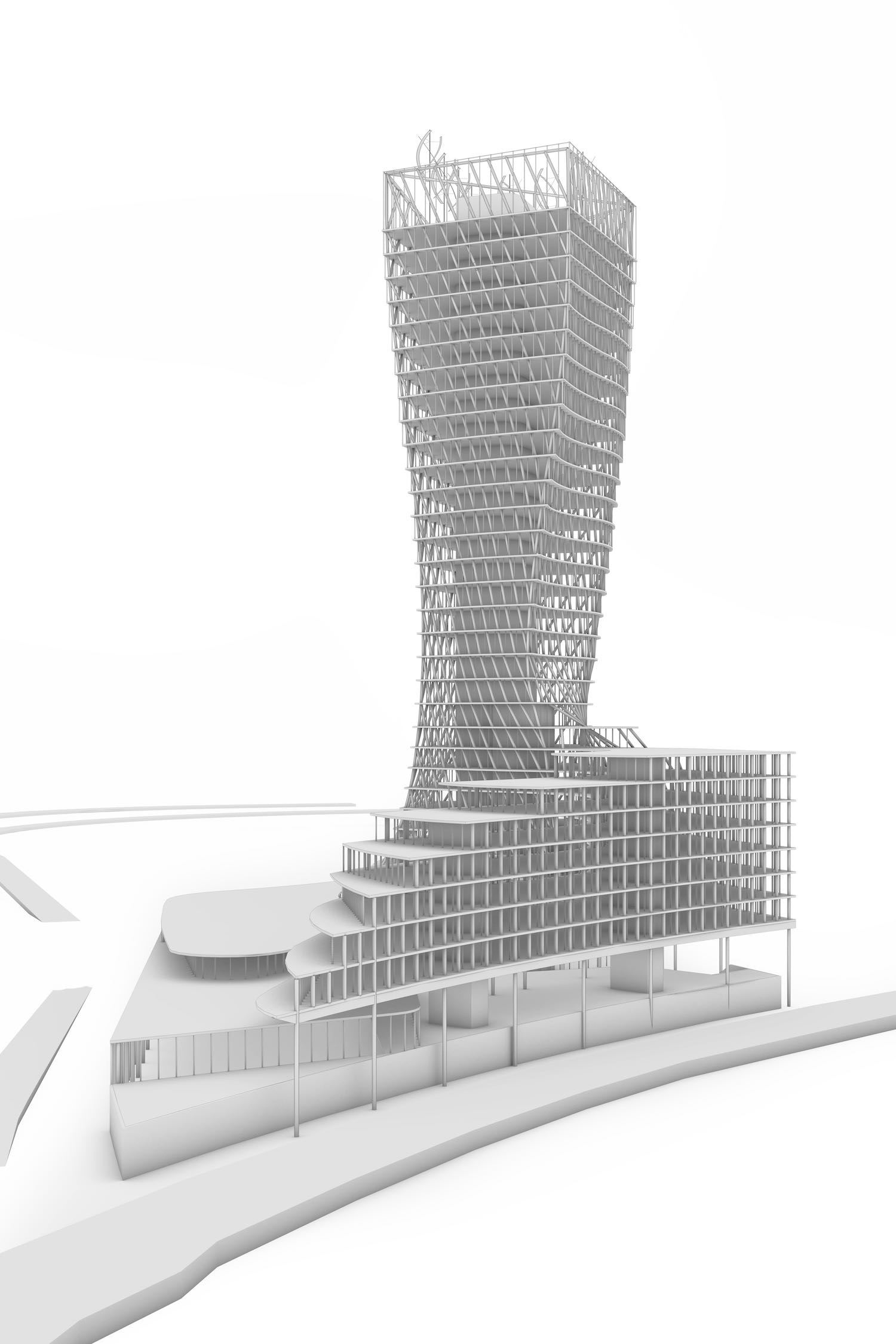 L'arbre de vie, a mixed-use tower in France designed by OXO Architectes - Manal Rachdi