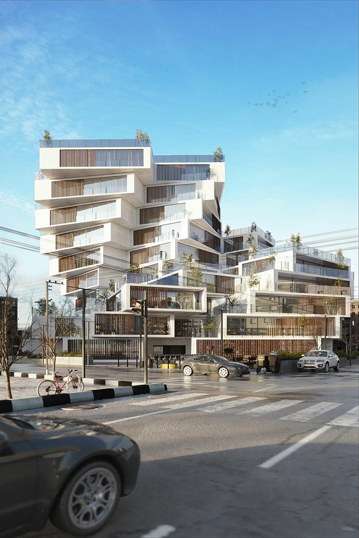 Residential complex designed by Milad Eshtiyaghi in Tehran Iran