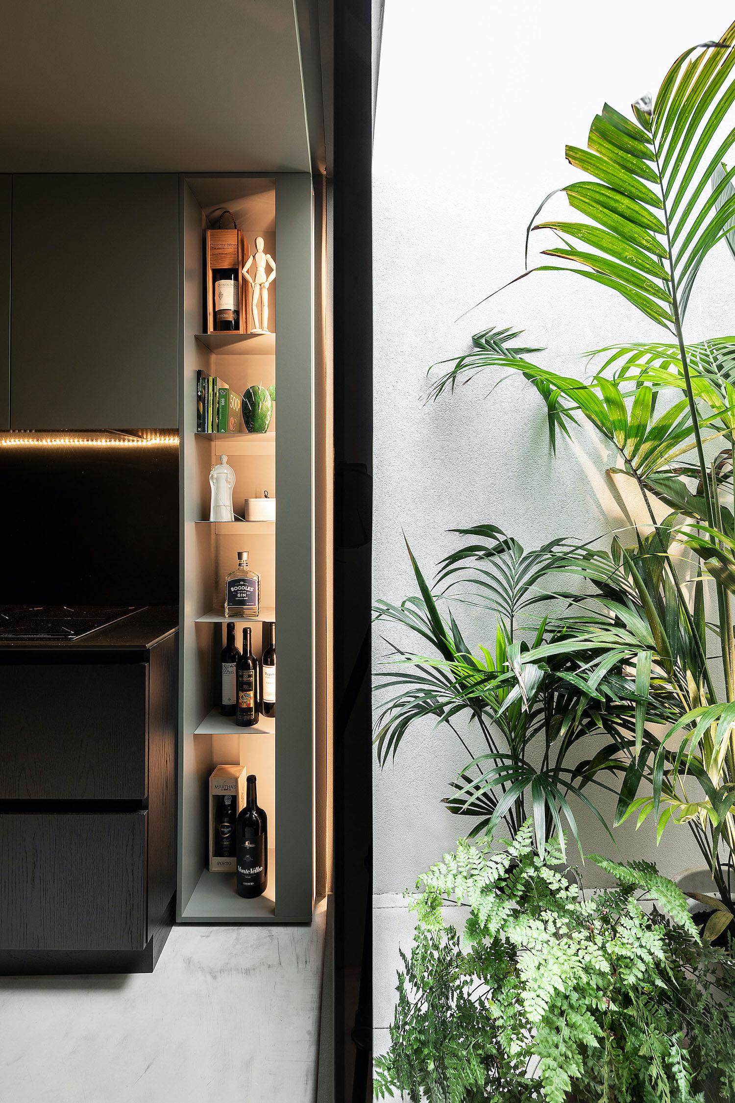 indoor patio with garden plants