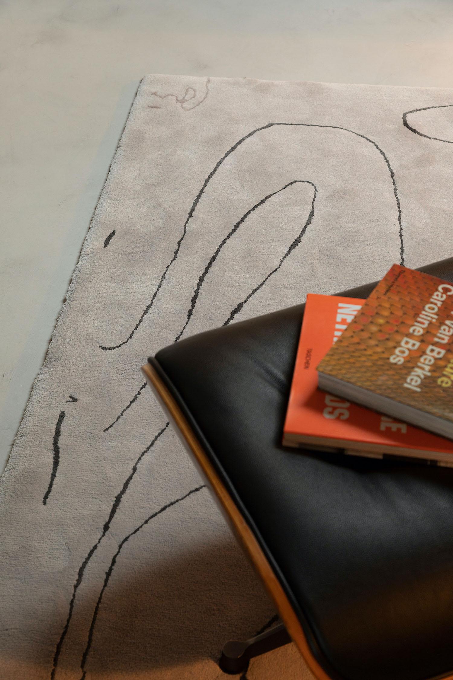 white rug on the floor