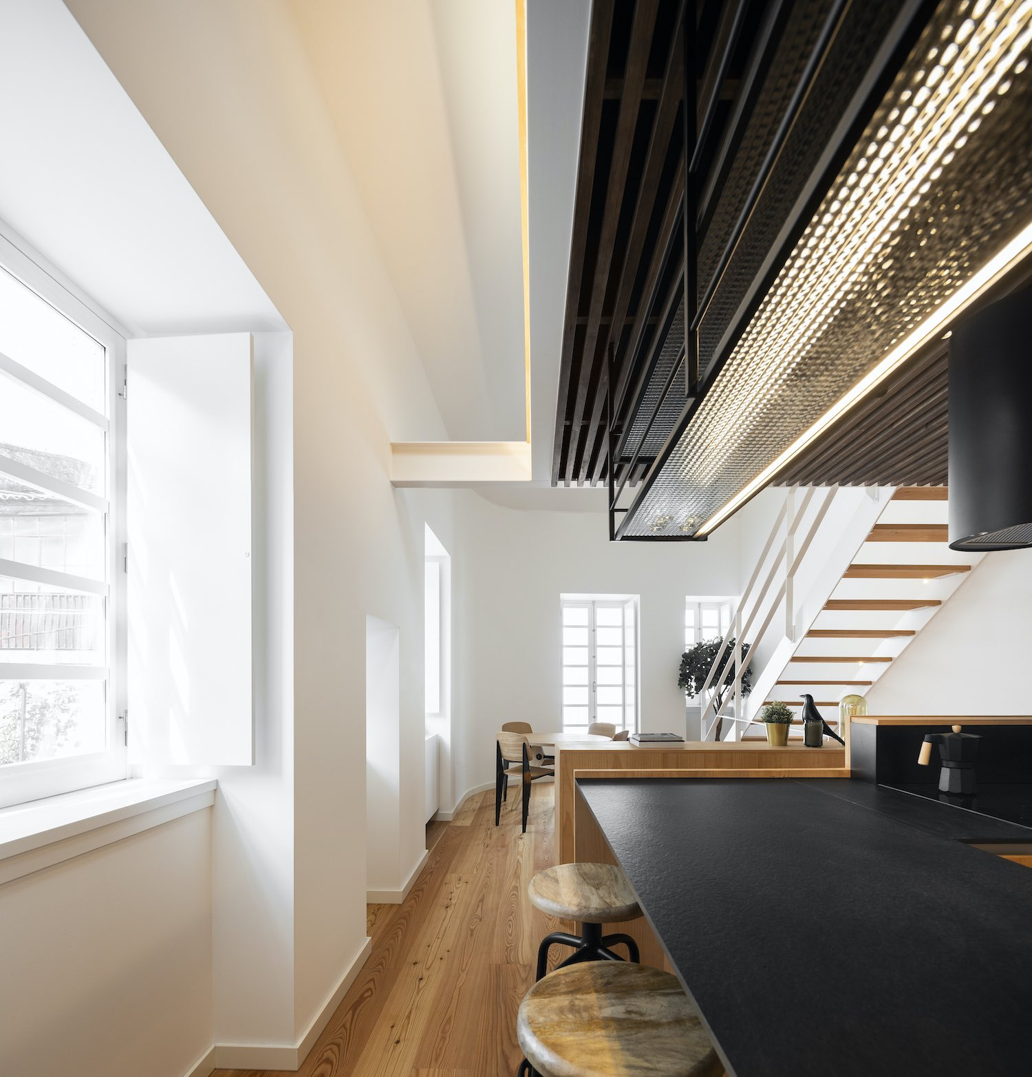 stool bar in the corridor