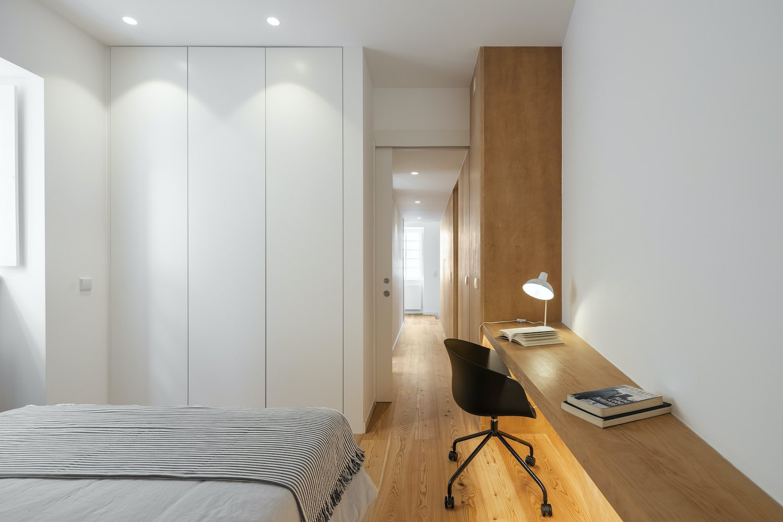 bedroom design with office desk
