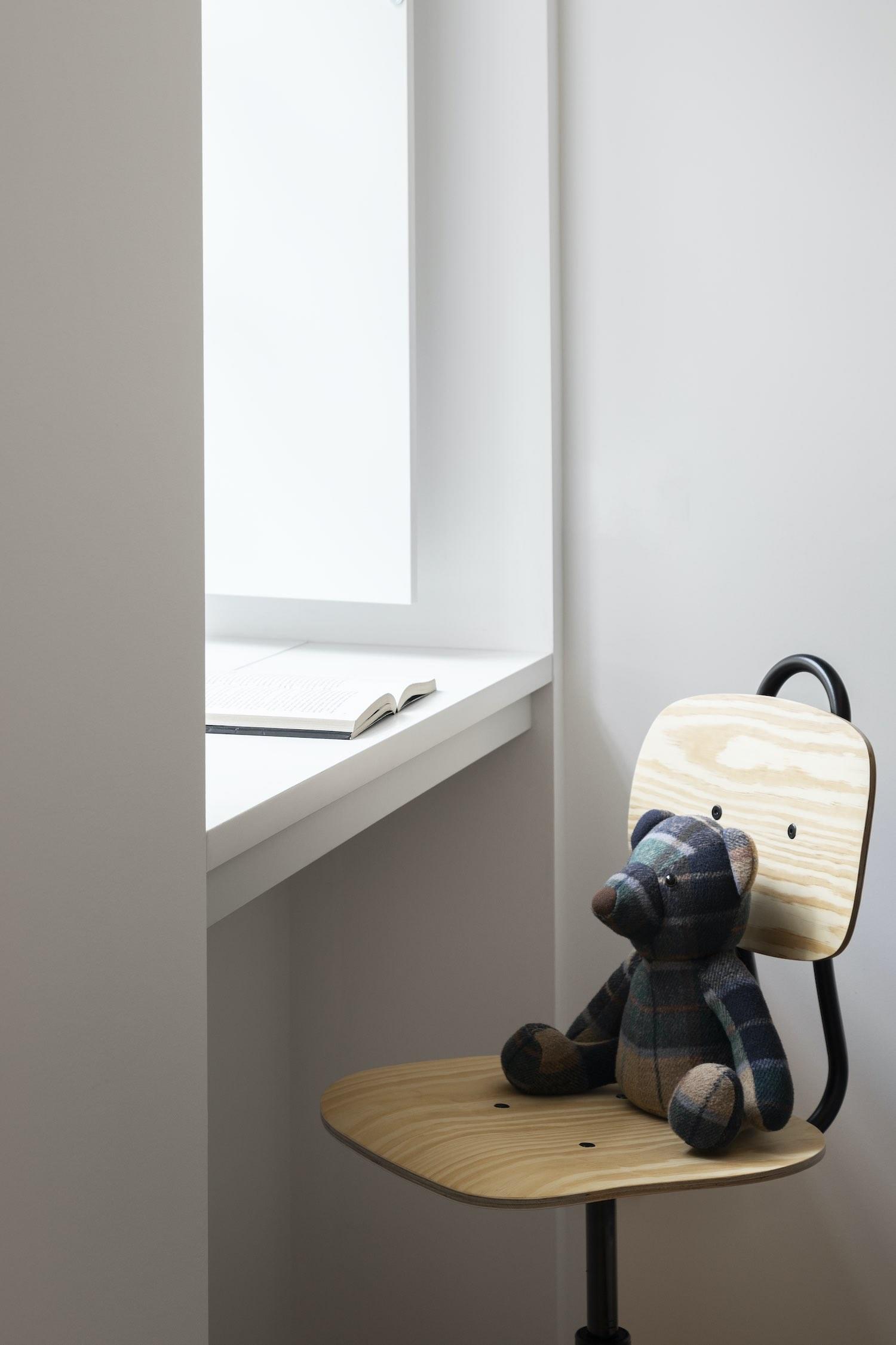 tedy bear toy on chair