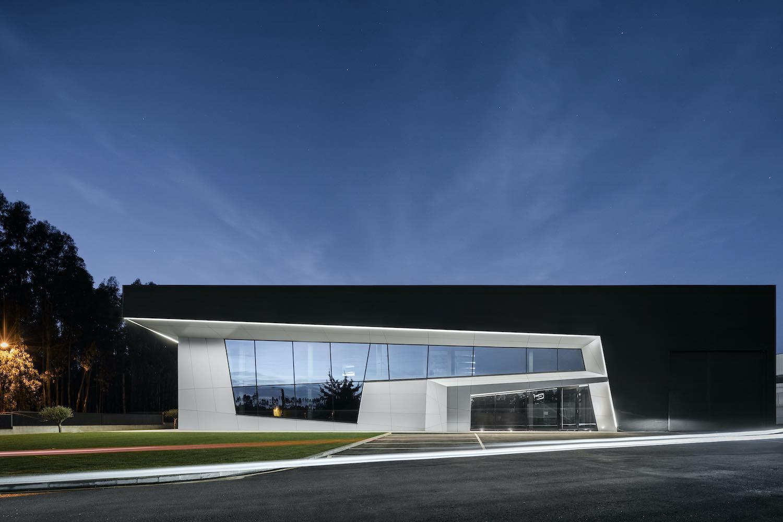 black exterior facade