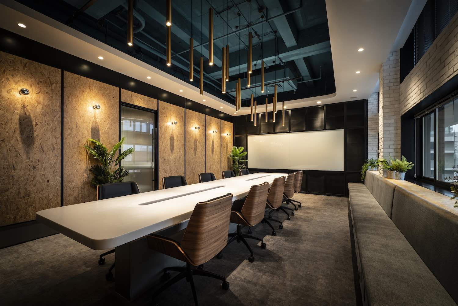 conference room with big desk