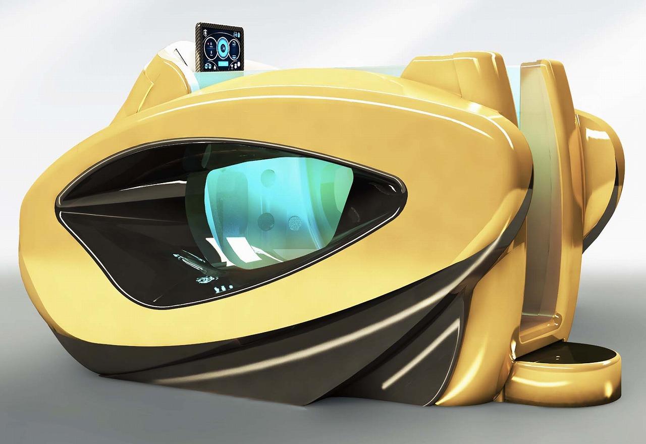 golden color underwater treadmill