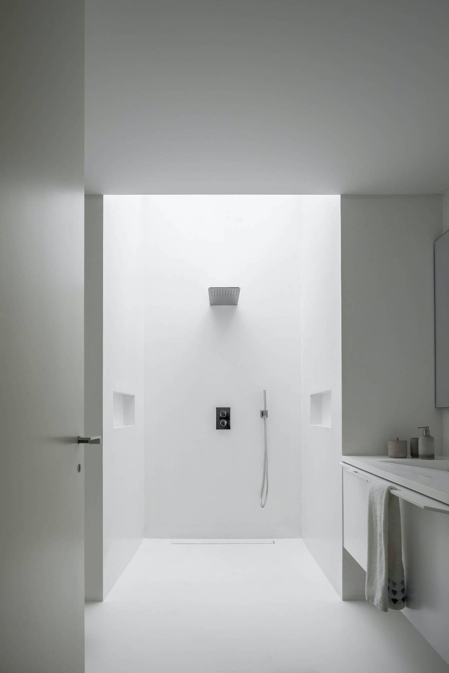 a bathroom with beautiful shower
