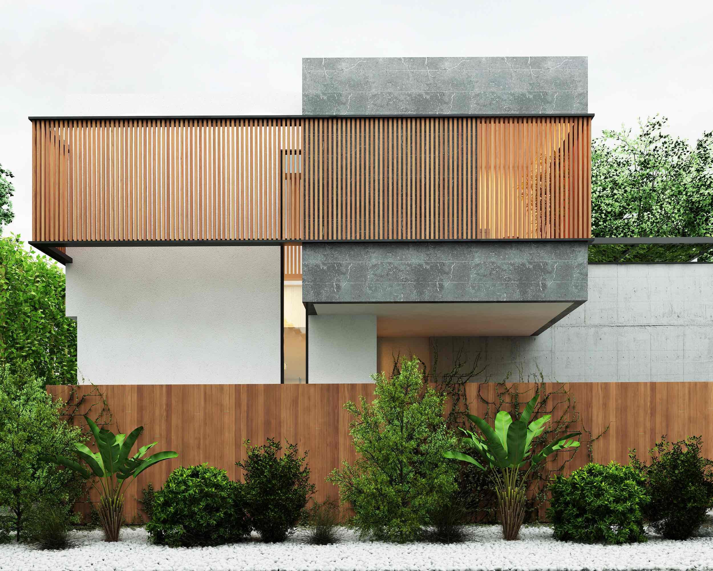 landscape design of the villa