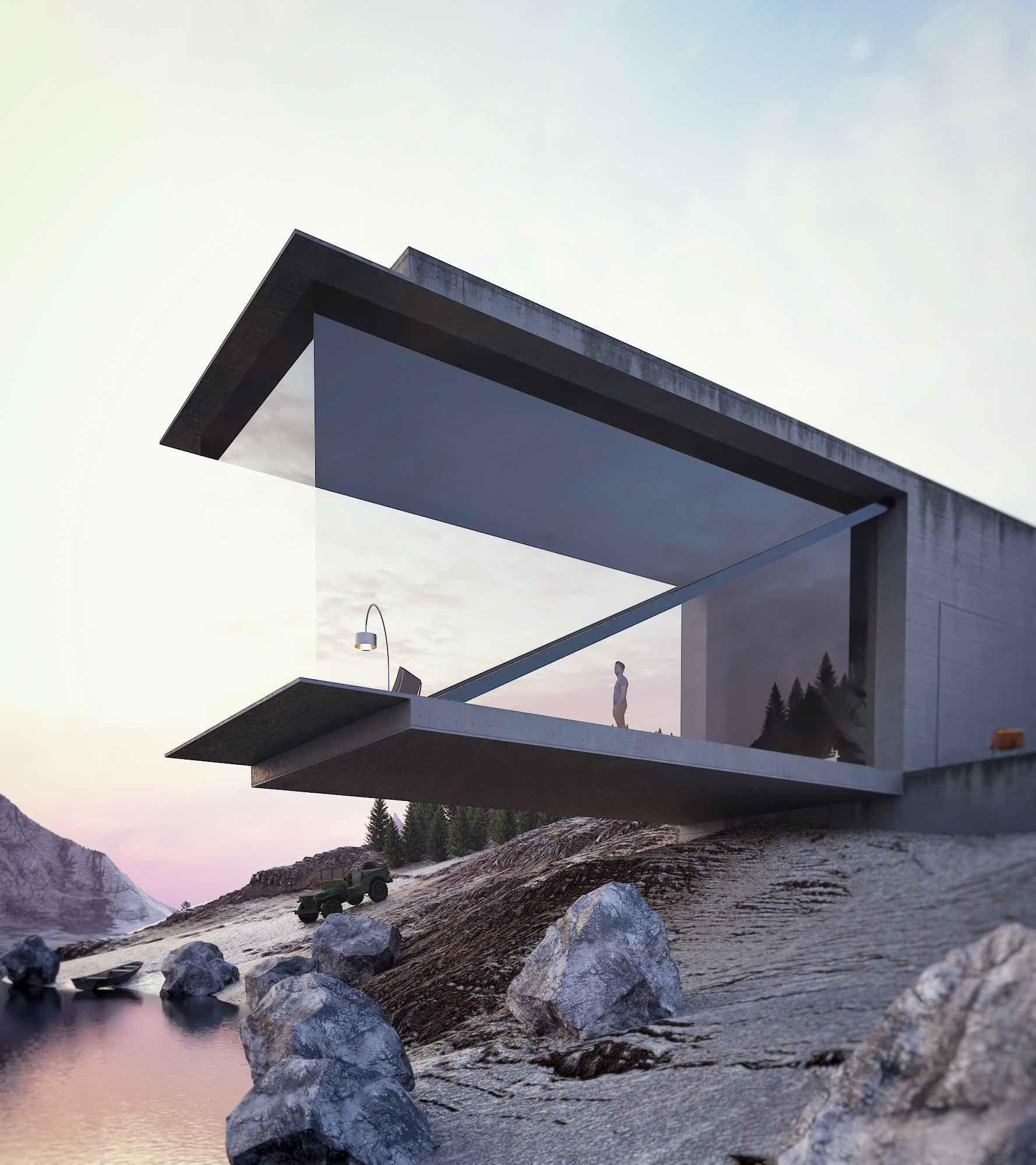 Minimalism in a Swiss Lake by Reza Mohatashami