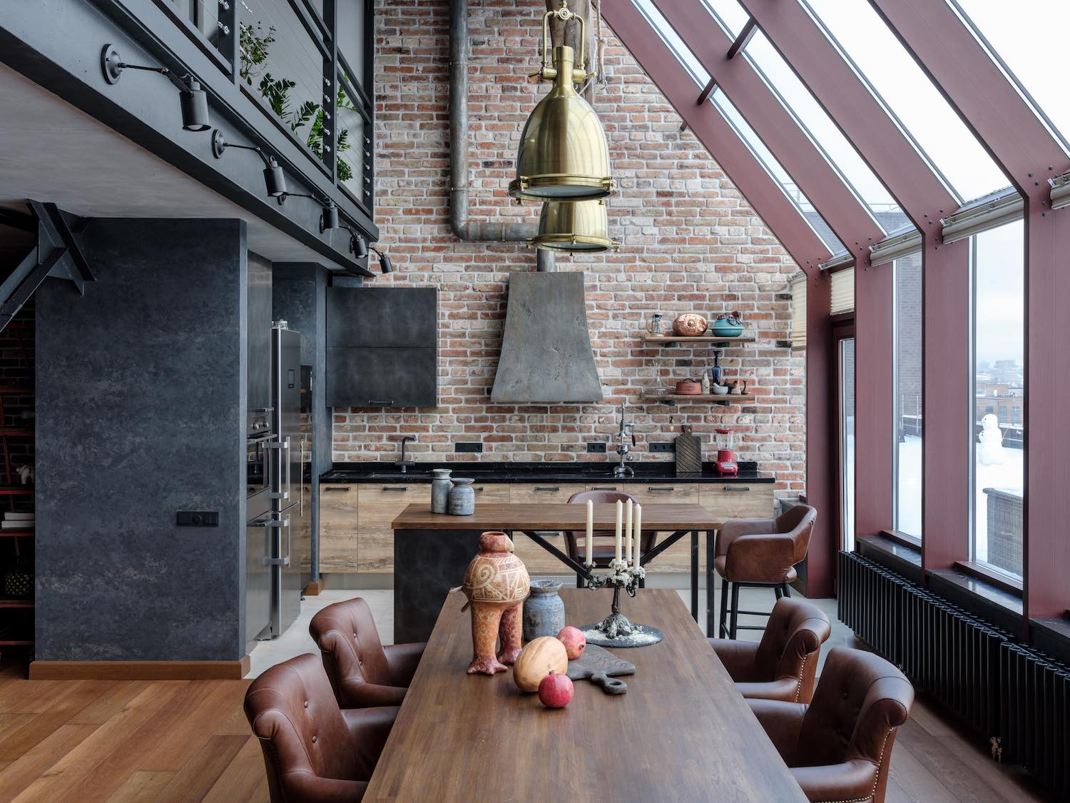 Loft in the Center of Moscow by Rudakova design