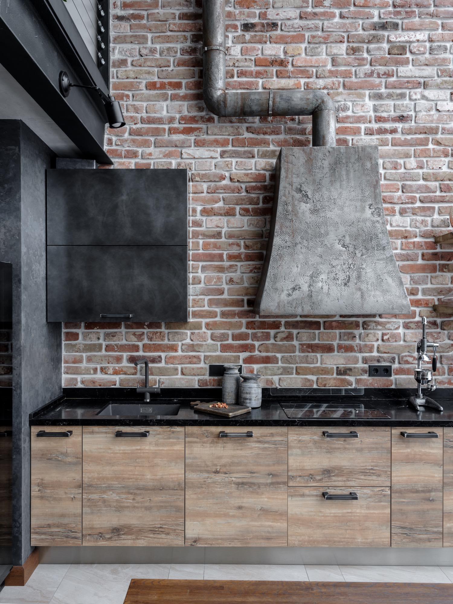 metallic kitchen hood design