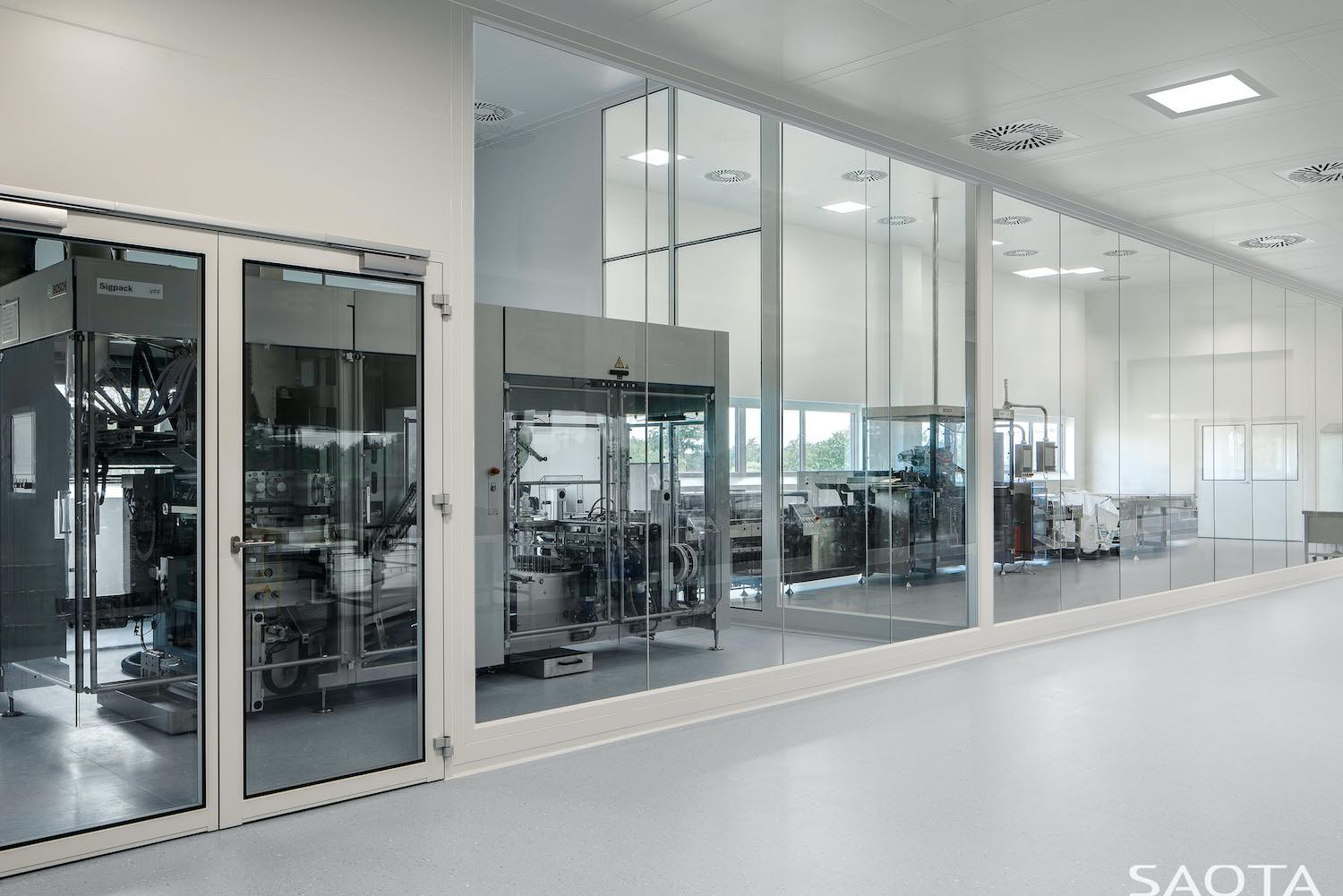 interior of healthcare factory in Germany