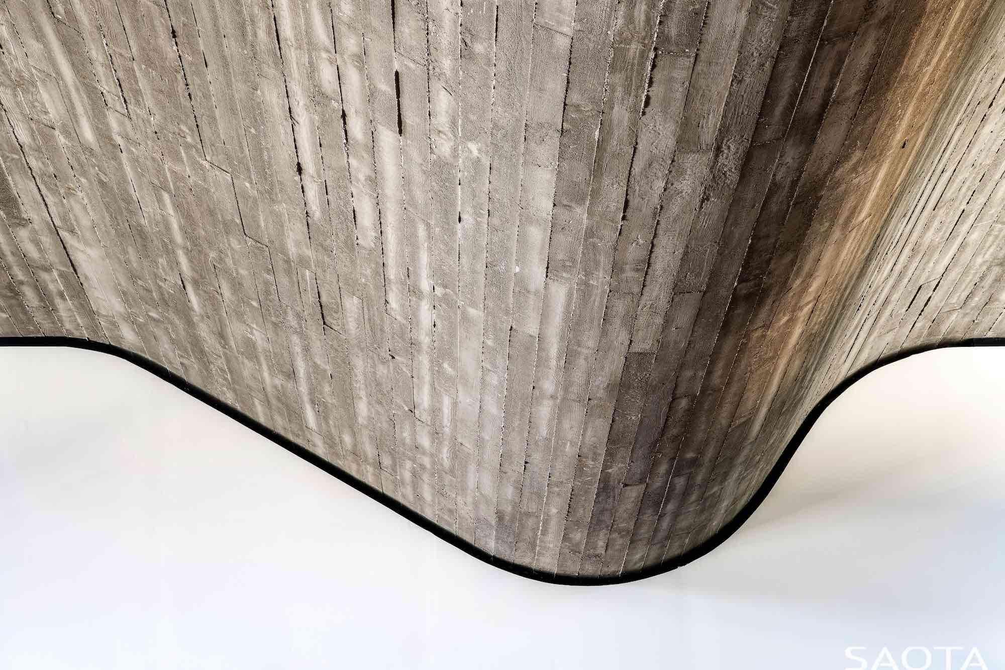 folded concrete roof like a wave