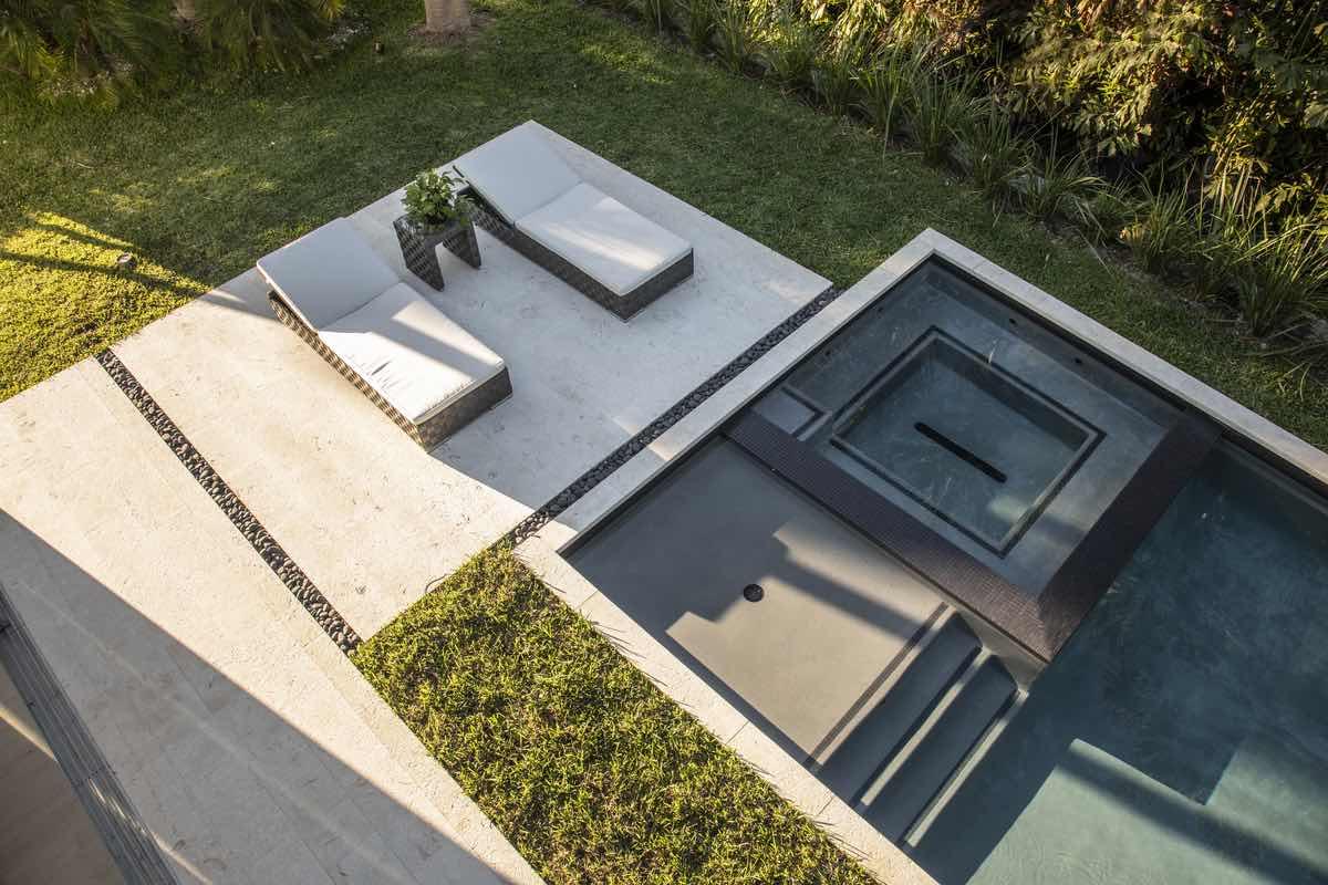 outdoor furniture near pool