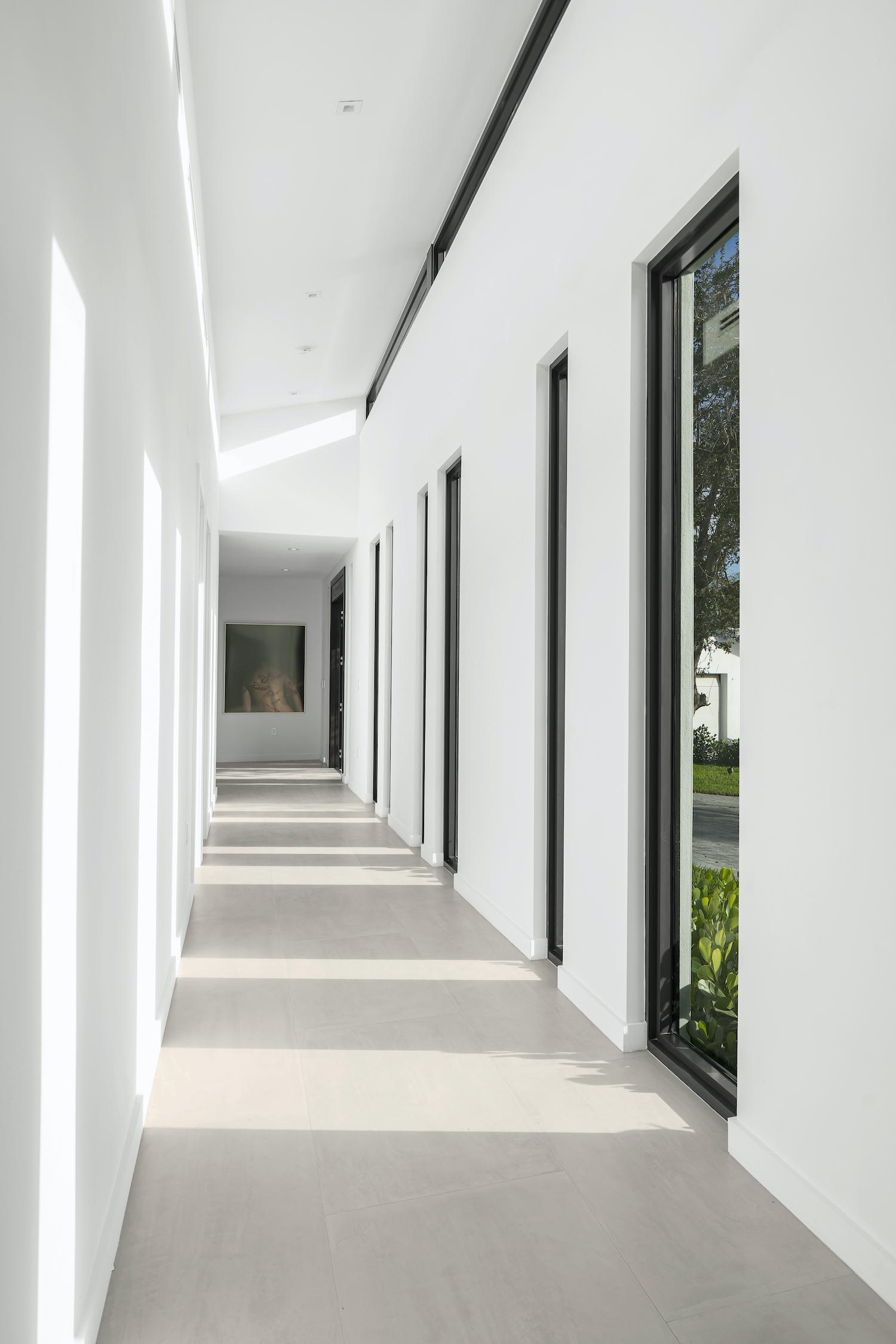 corridor with white walls