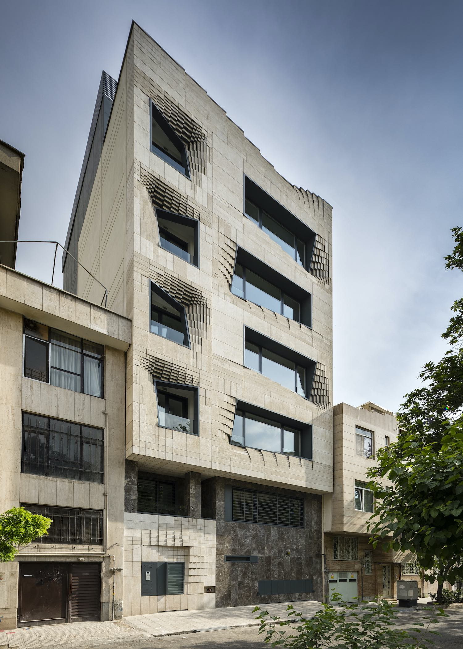 Softstone mid-rise office building in Tehran designed by SETUP Architecture Studio