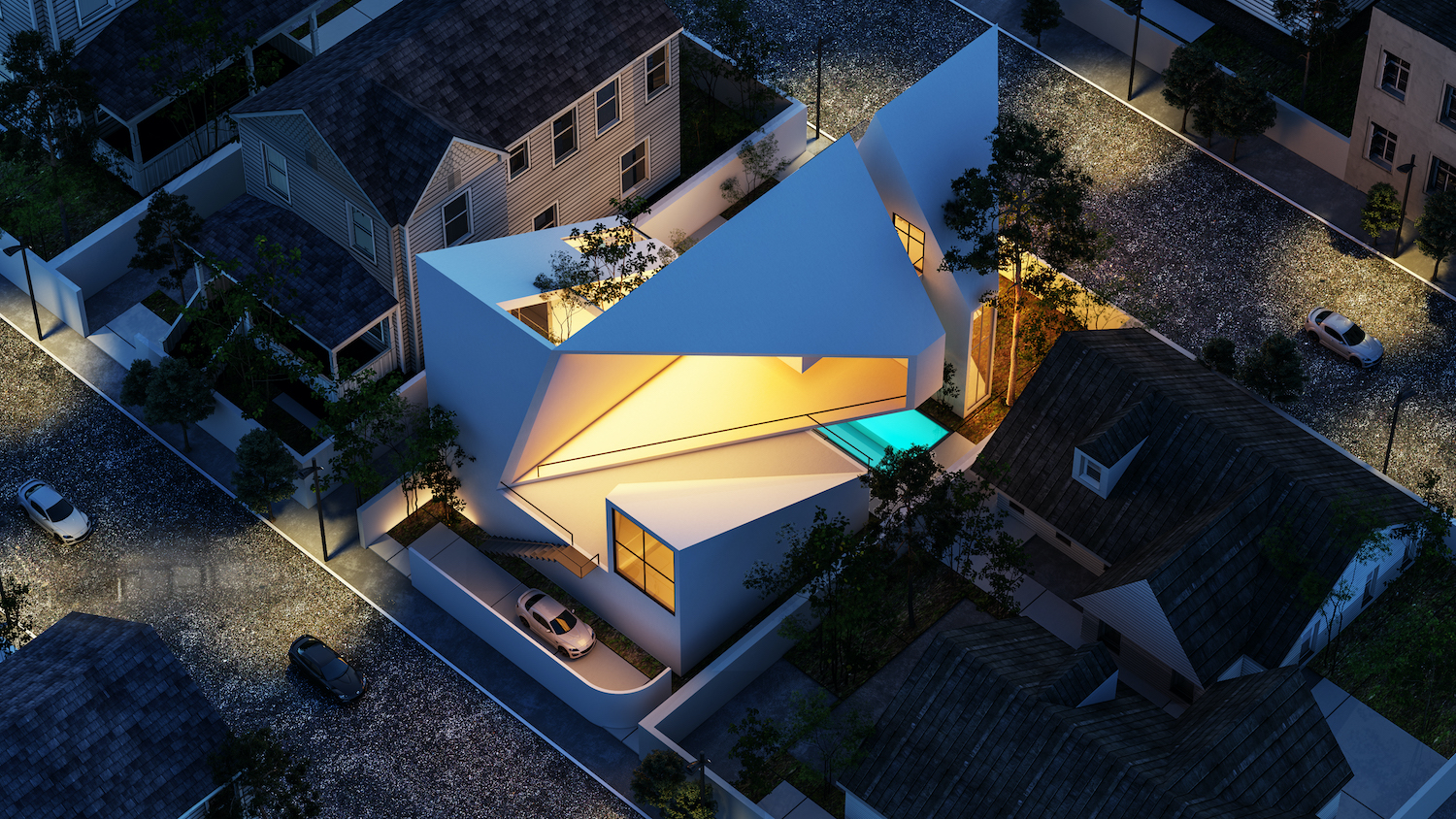 Villa no. 13 in Ramsar, Iran by Saeb Alimmohammadi with central opening
