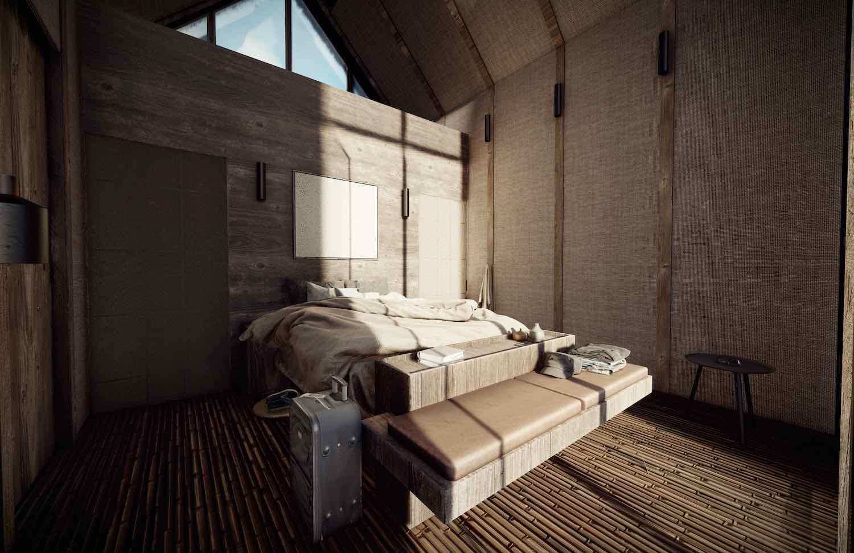 sun lights entering bedroom