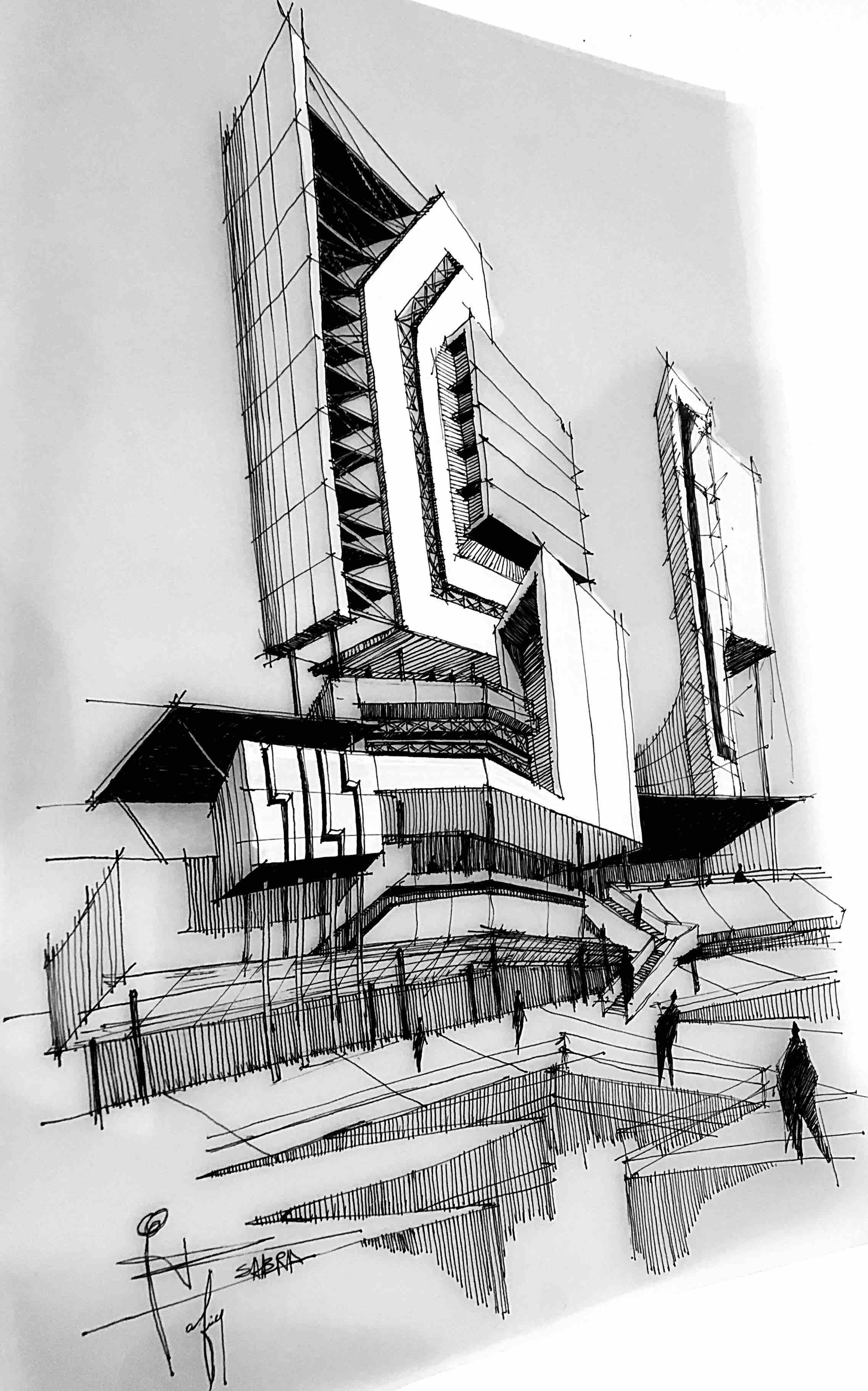 Architectural sketch rafiq sabra 007 jpg