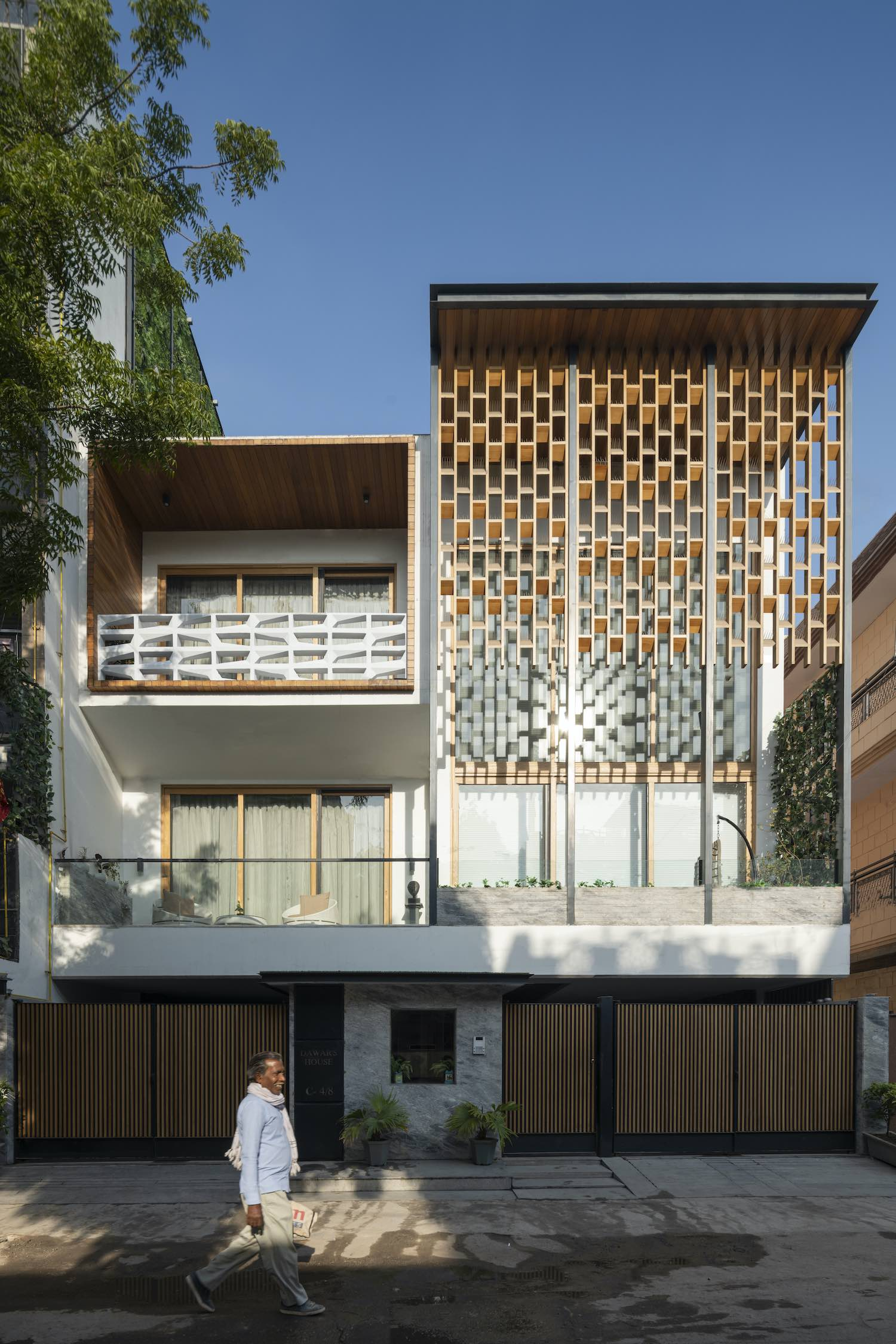 The Screen House in New Delhi, India designed by Spaces Architects@ka