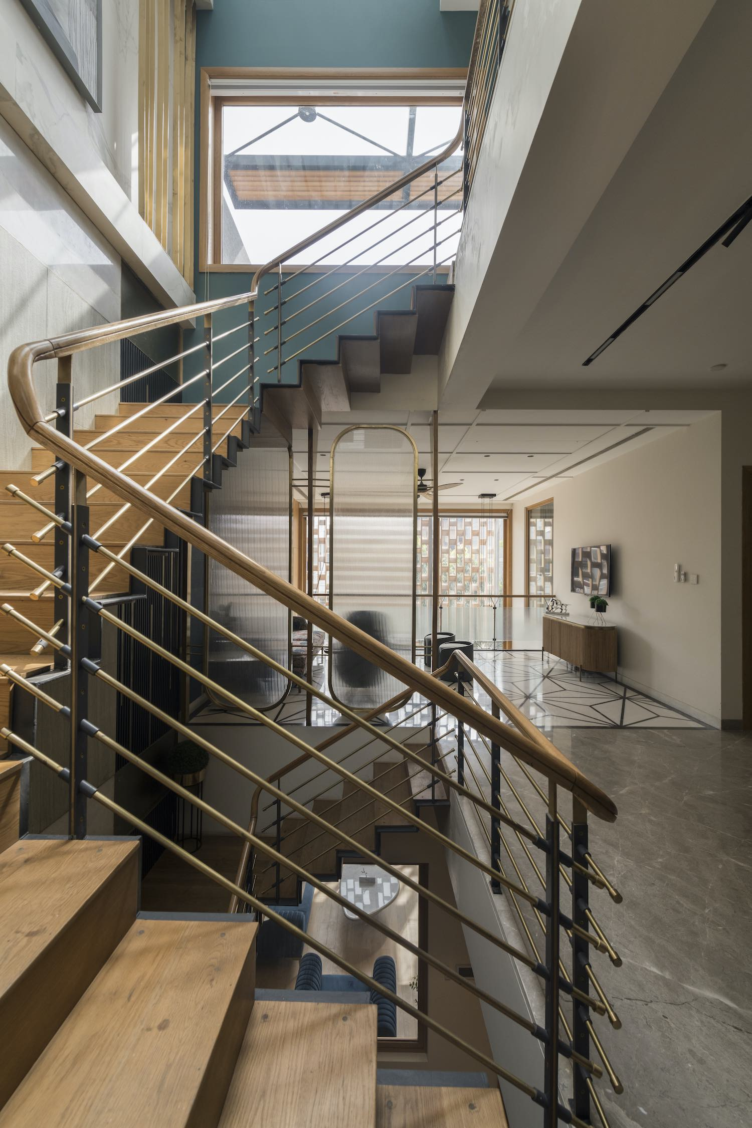 stair connecting ground floor to first floor