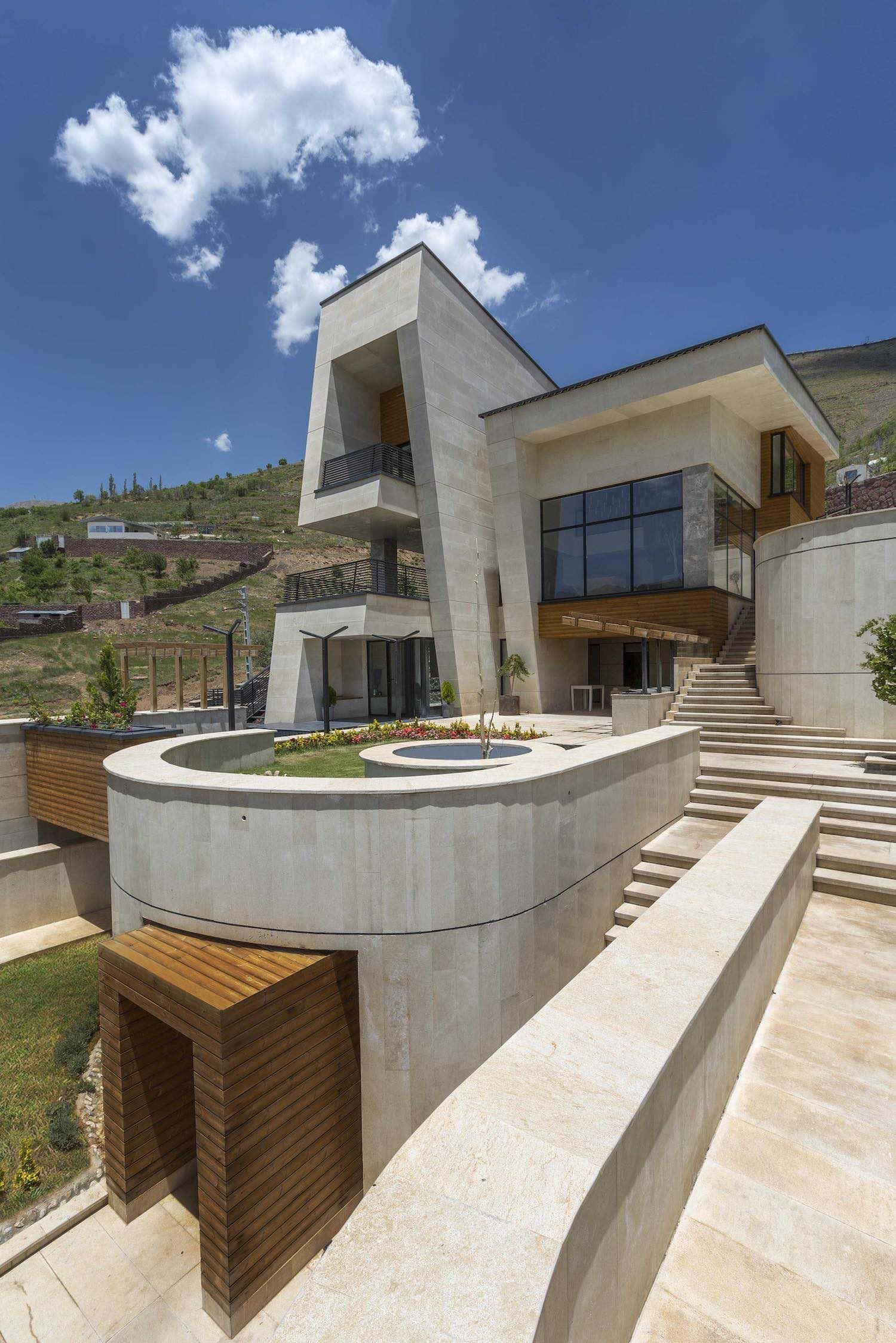 a twin villa in mountainous village in Iran